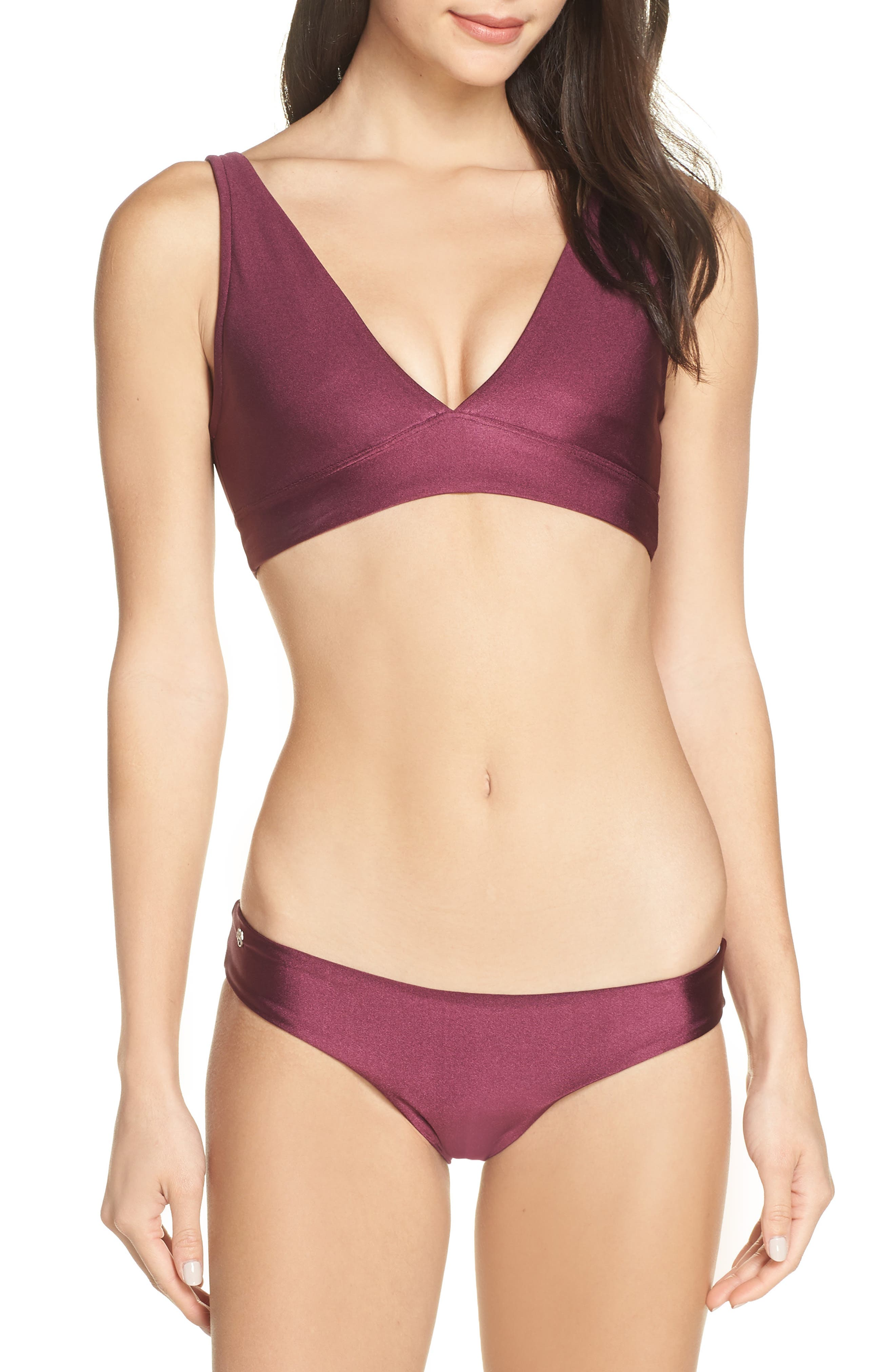 Beach Plum Sublime Reversible Bikini Bottoms,                             Alternate thumbnail 8, color,                             BEACH PLUM