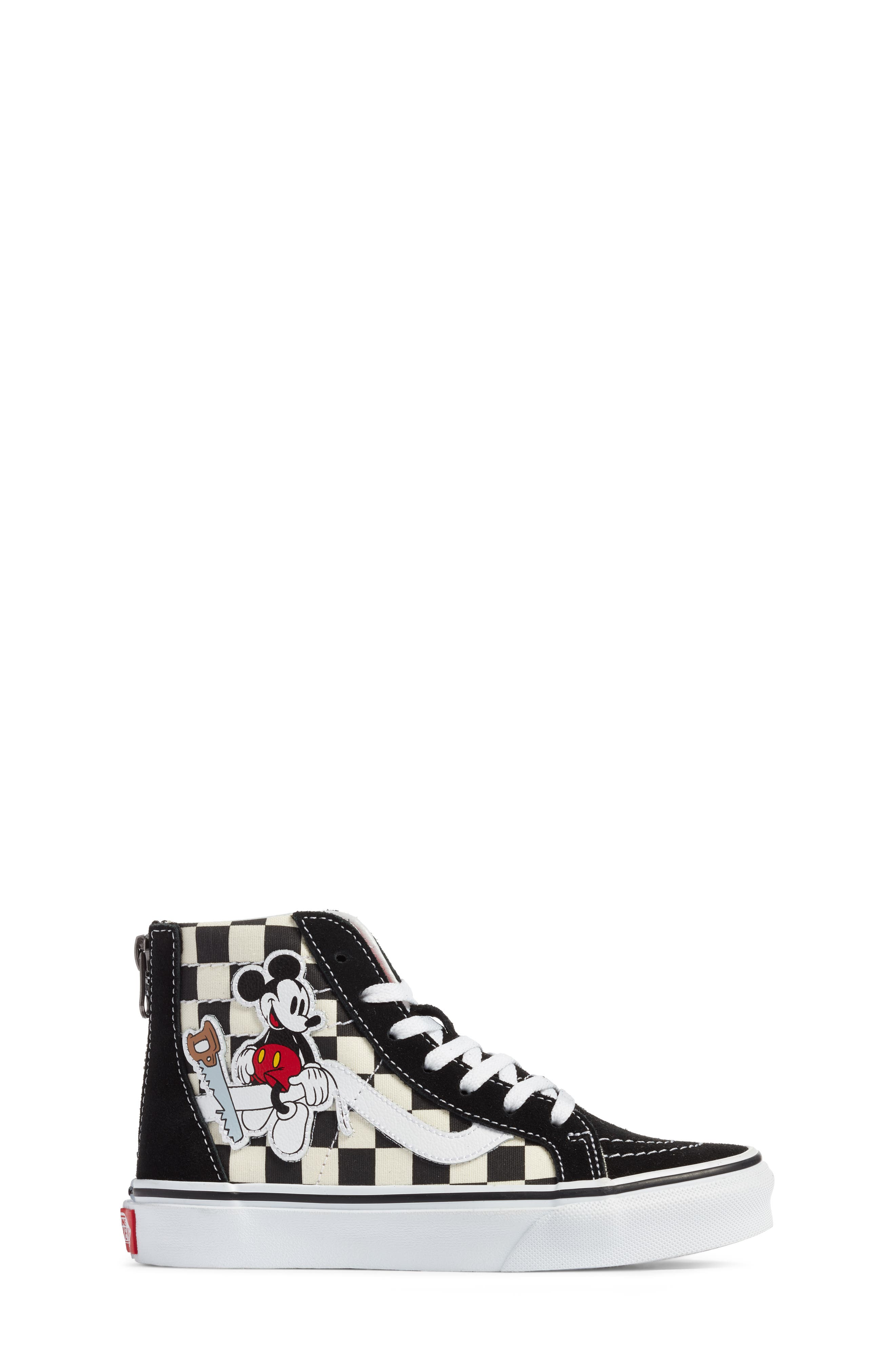 x Disney Mickey Mouse SK8-Hi Zip Sneaker,                             Alternate thumbnail 3, color,                             DISNEY MICKEY CHECKERBOARD