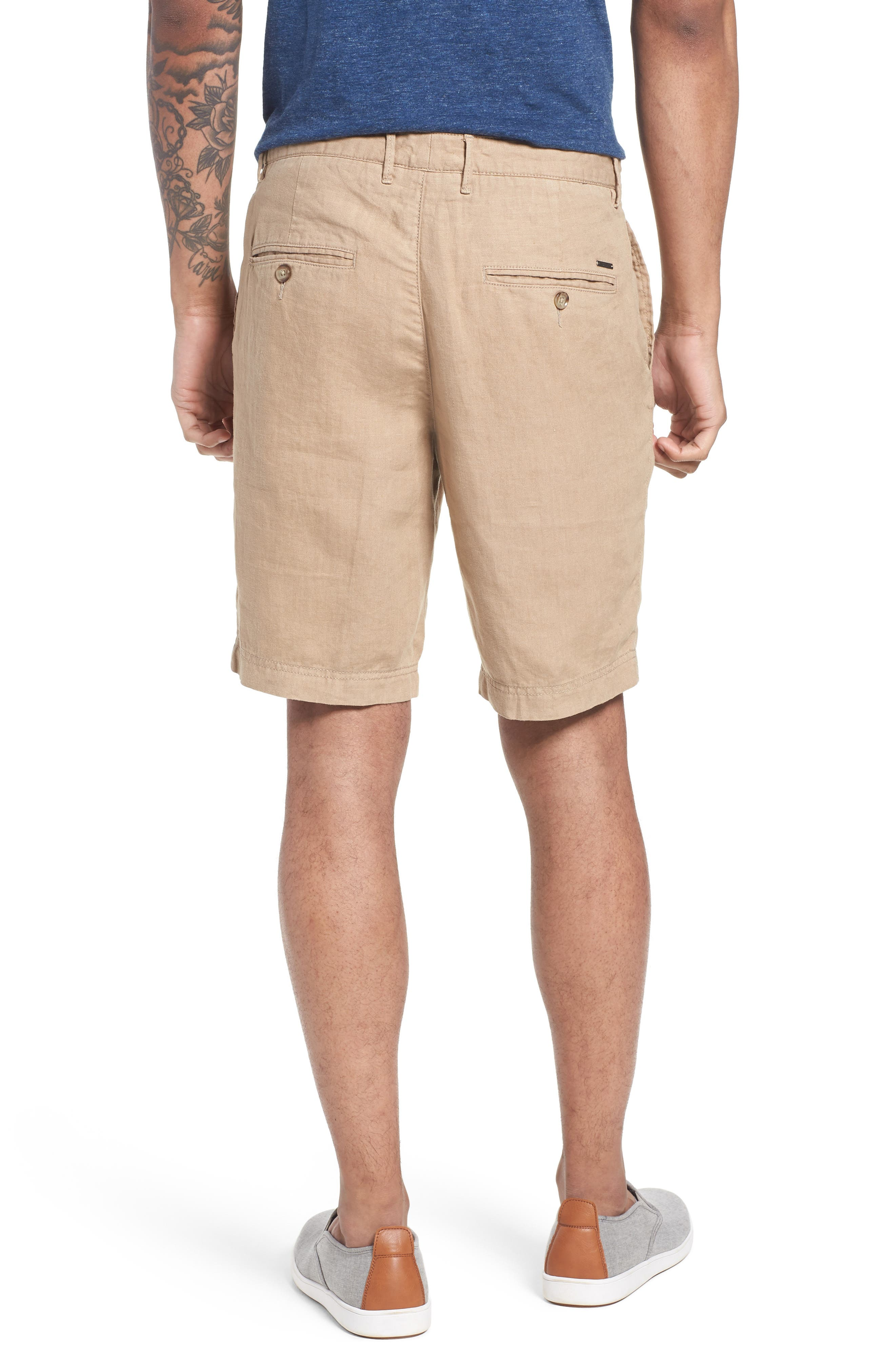 Crigan Linen Shorts,                             Alternate thumbnail 9, color,