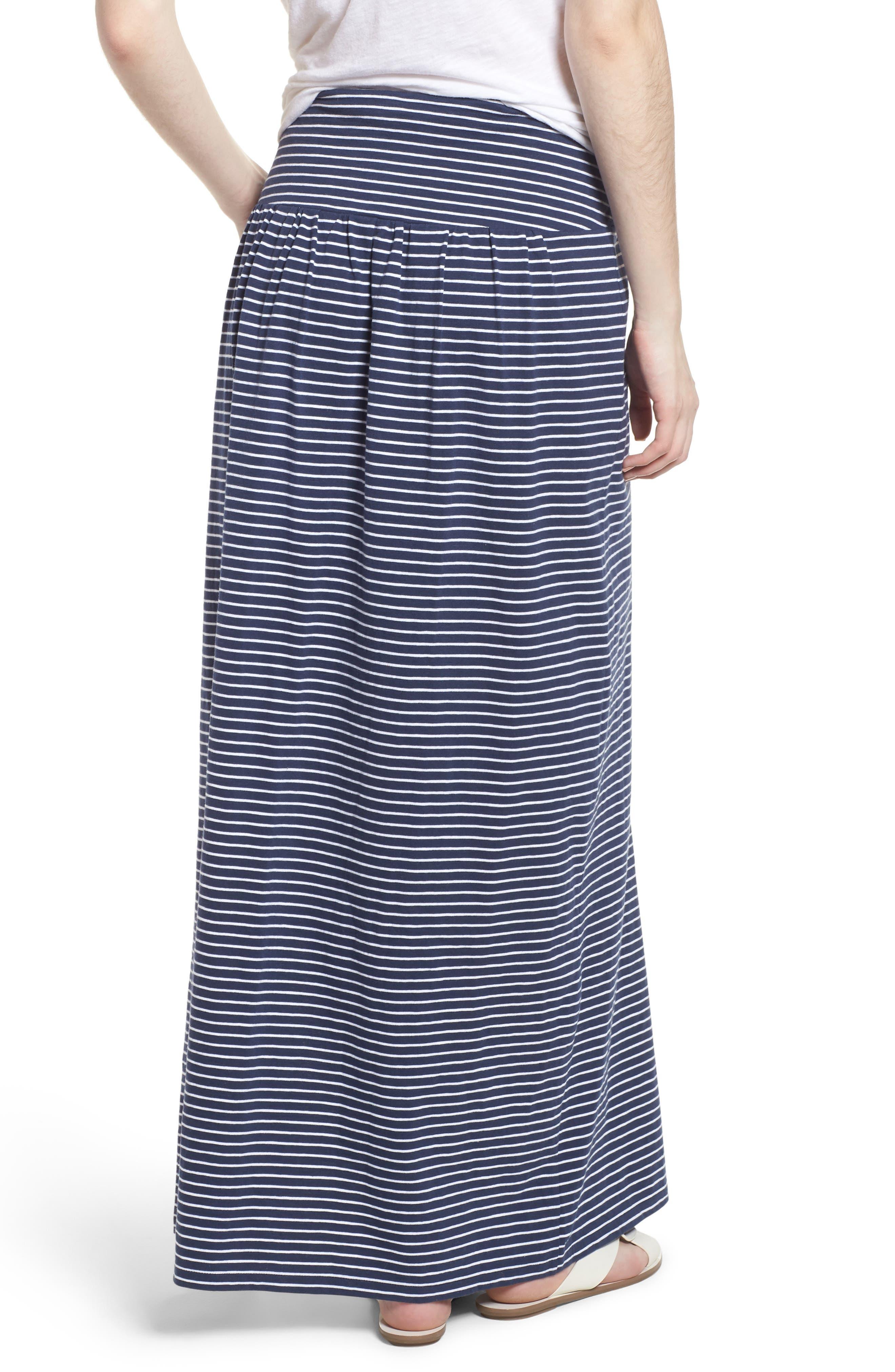 Tie Front Cotton Maxi Skirt,                             Alternate thumbnail 8, color,
