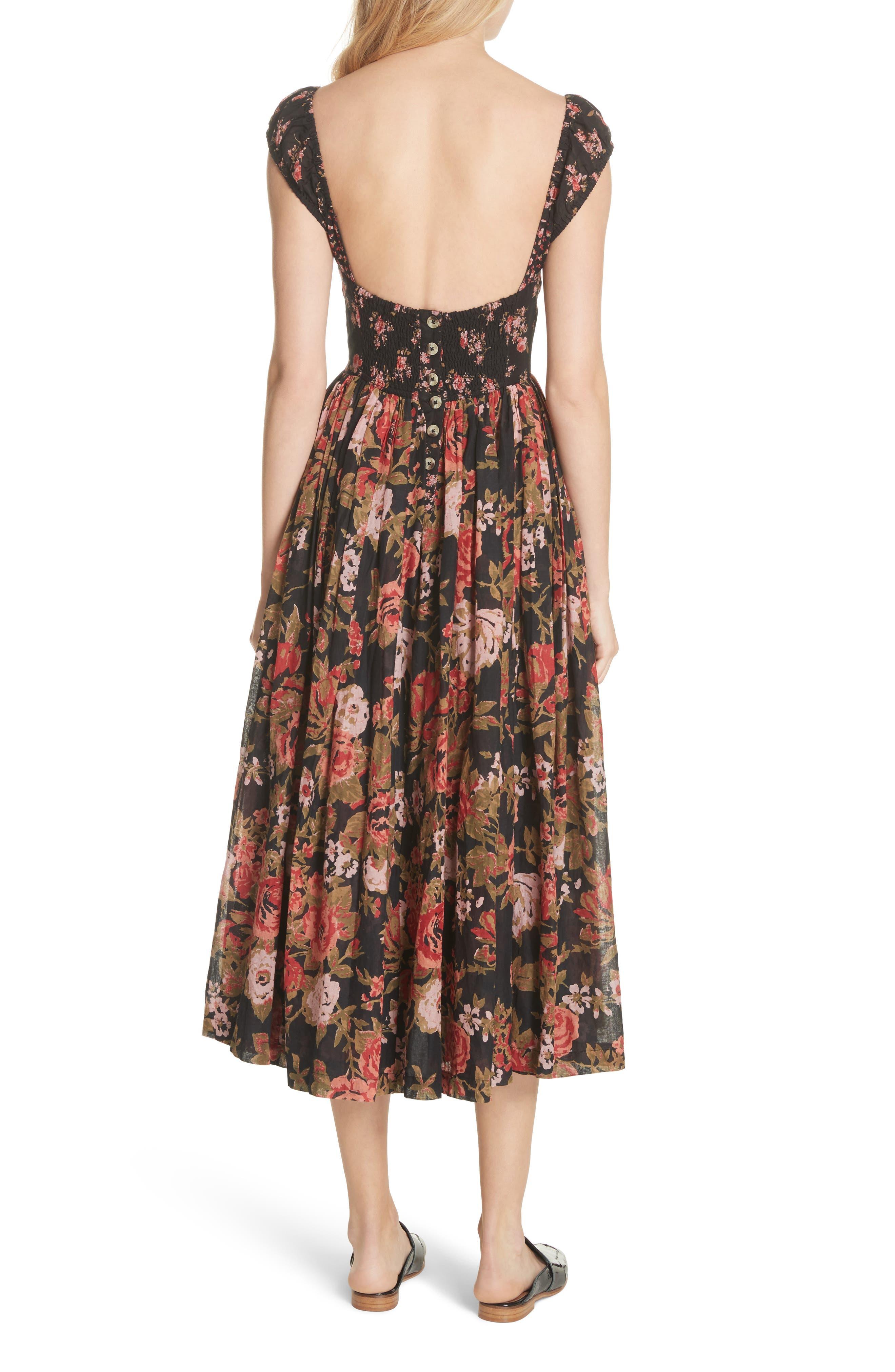 Love You Midi Dress,                             Alternate thumbnail 2, color,                             001