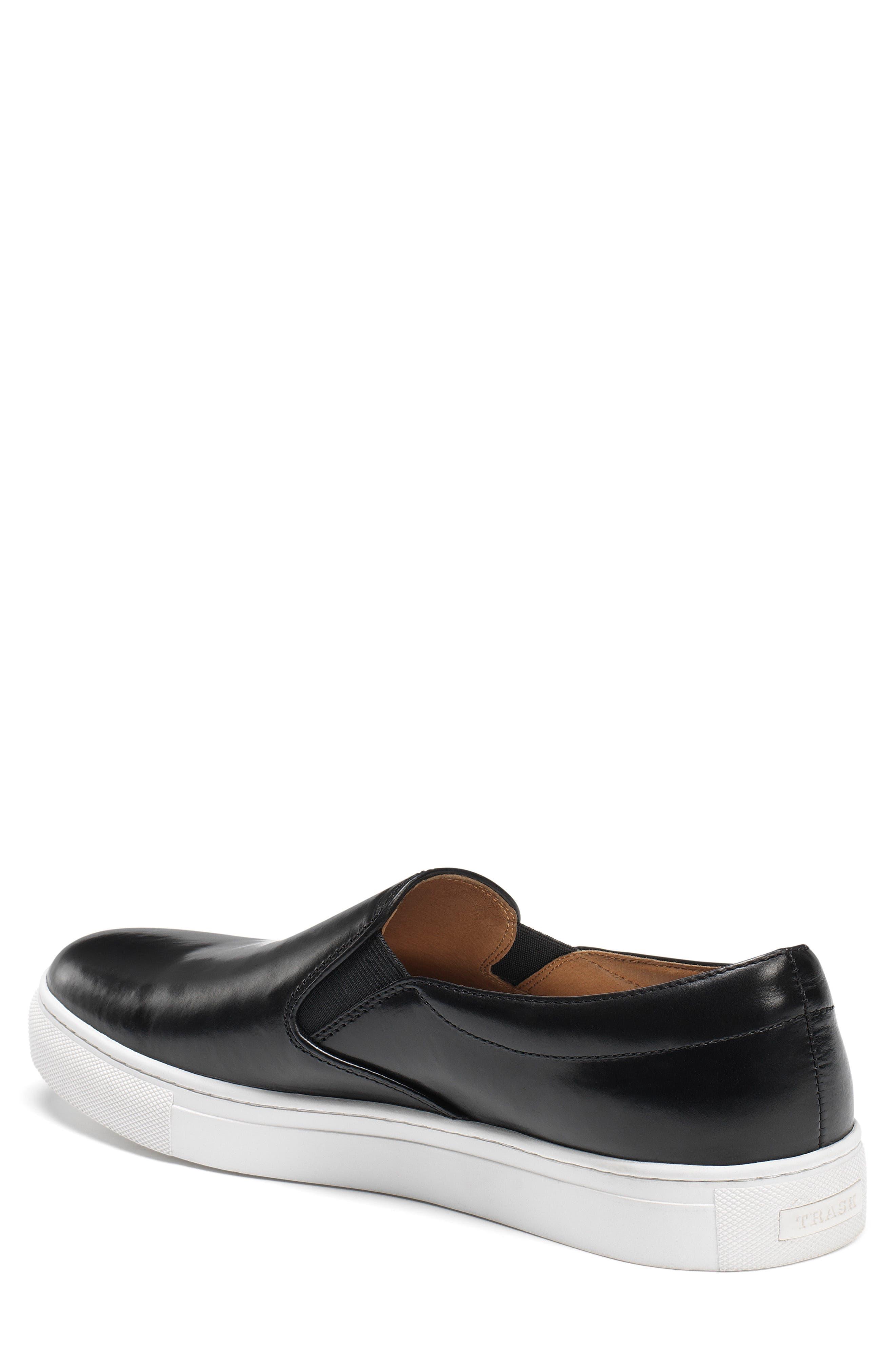 Alex Slip-On Sneaker,                             Alternate thumbnail 2, color,                             BLACK LEATHER