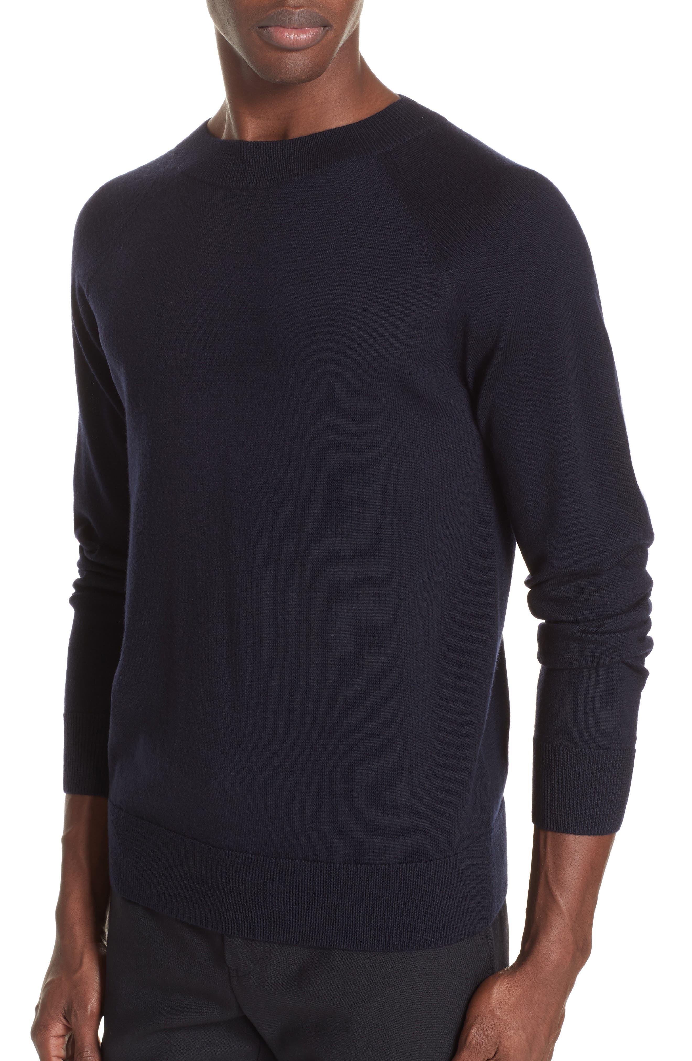 Mimic Raglan Sweater,                             Alternate thumbnail 4, color,                             NAVY