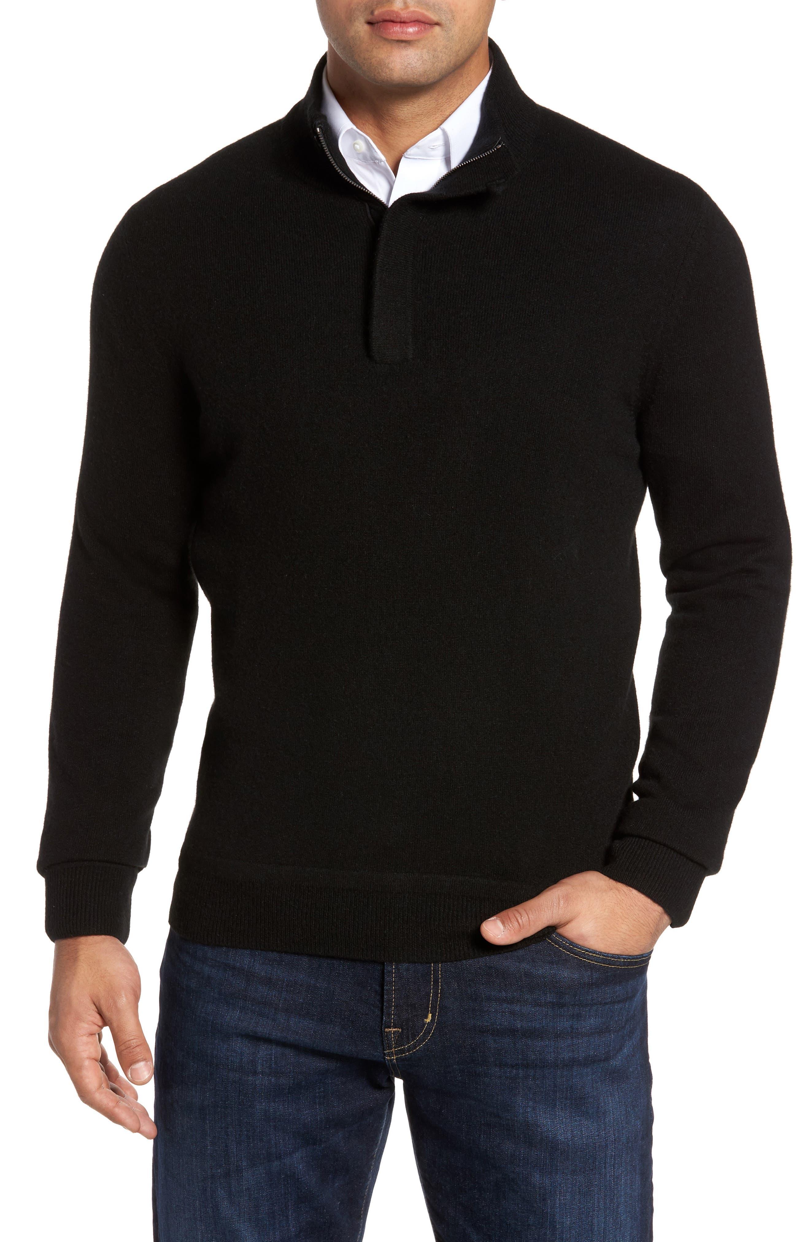Cashmere Quarter Zip Sweater,                         Main,                         color,