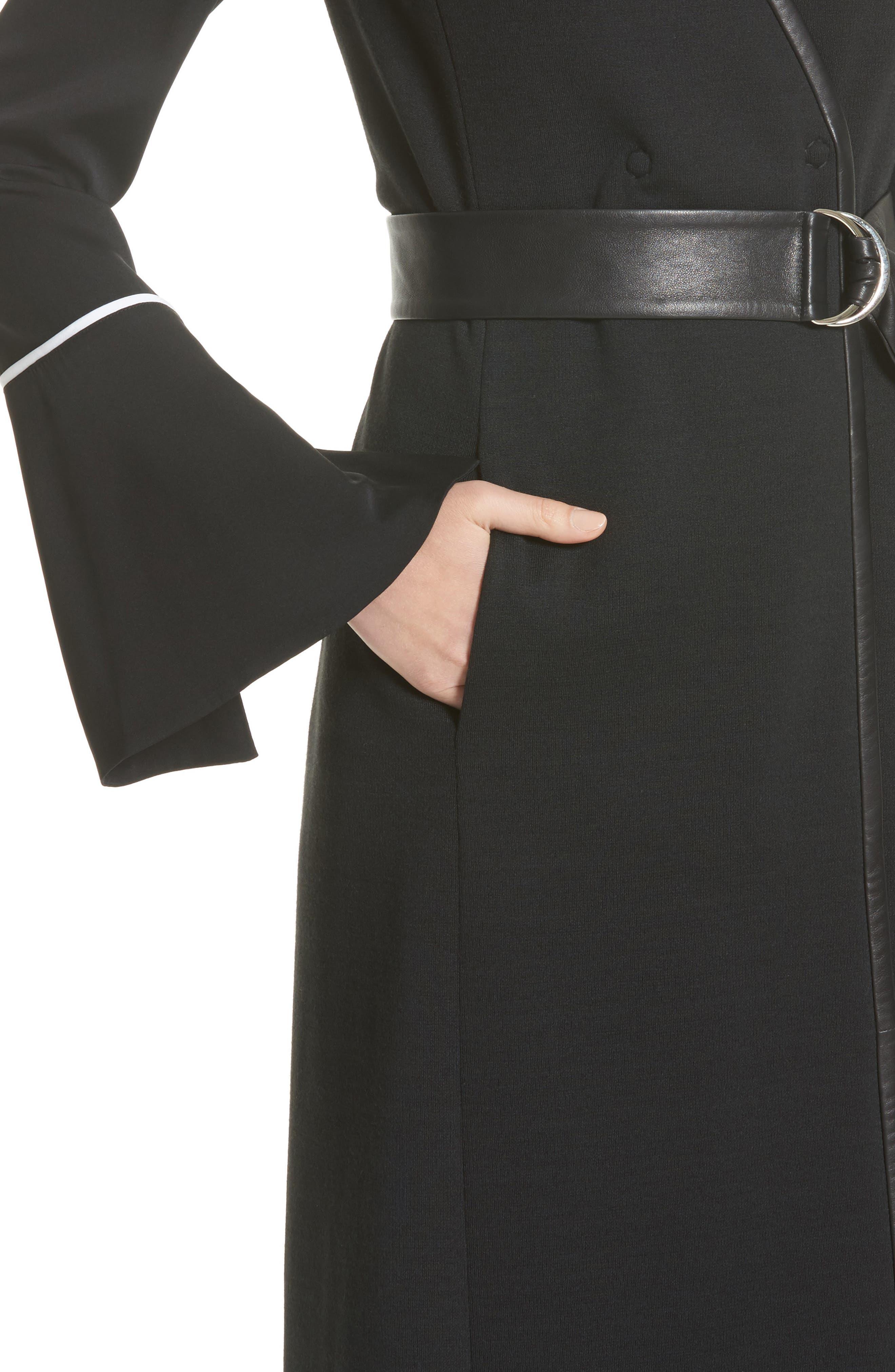 Milano Knit A-Line Vest,                             Alternate thumbnail 4, color,                             001
