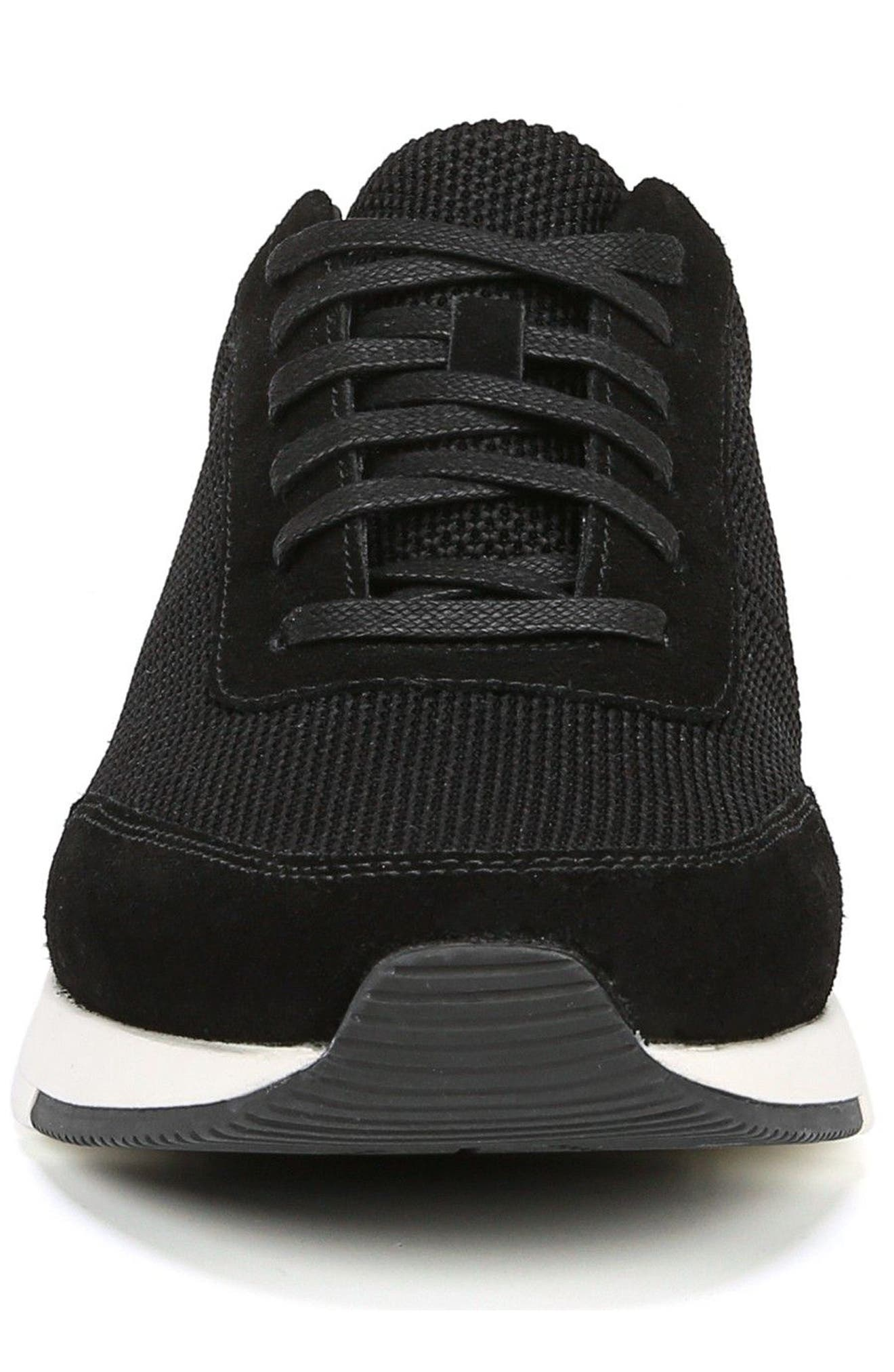 Payton Mesh Sneaker,                             Alternate thumbnail 4, color,                             BLACK