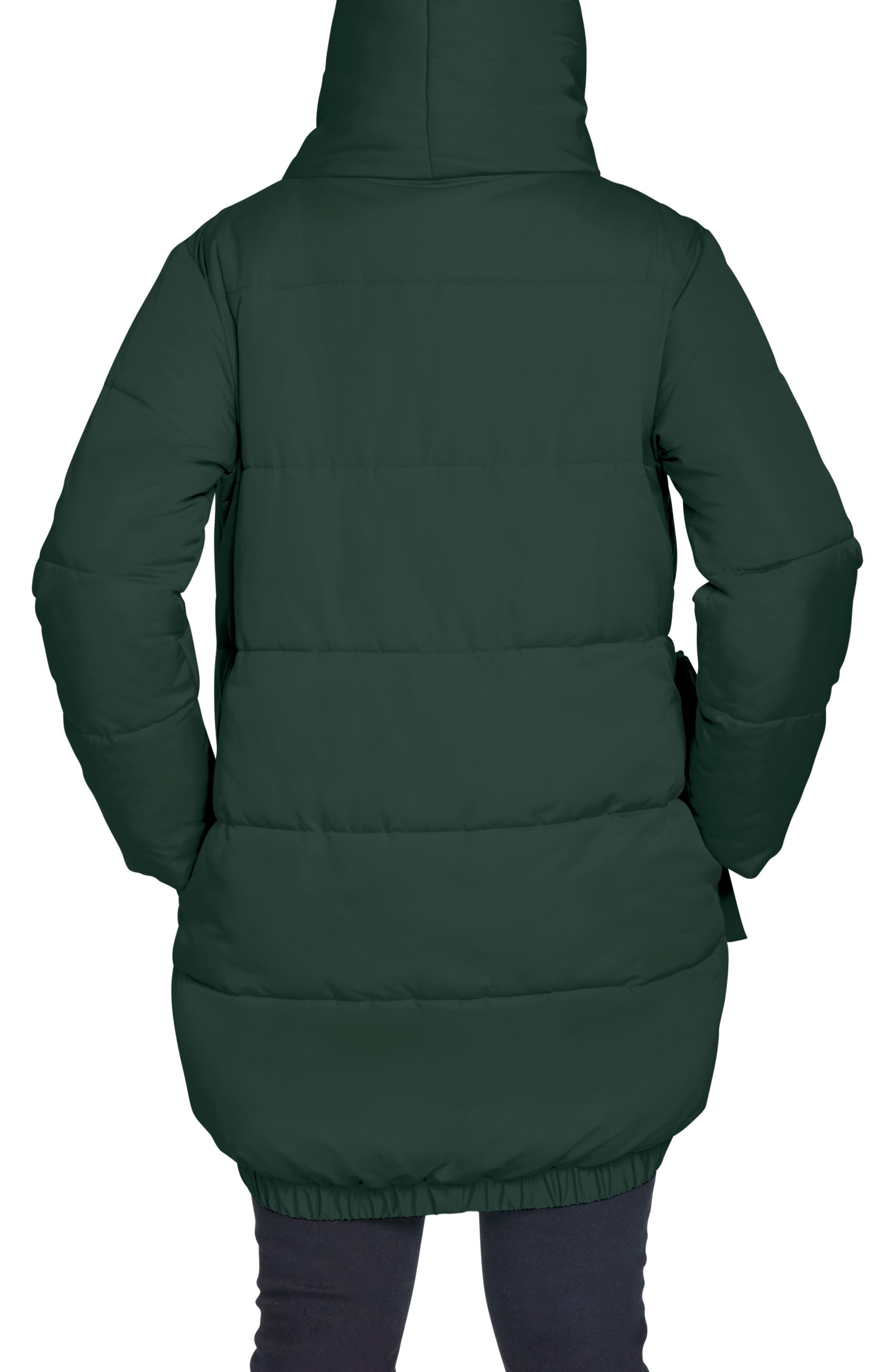 UNIVERSAL STANDARD,                             Kanda Puffer Coat,                             Alternate thumbnail 2, color,                             HUNTER GREEN