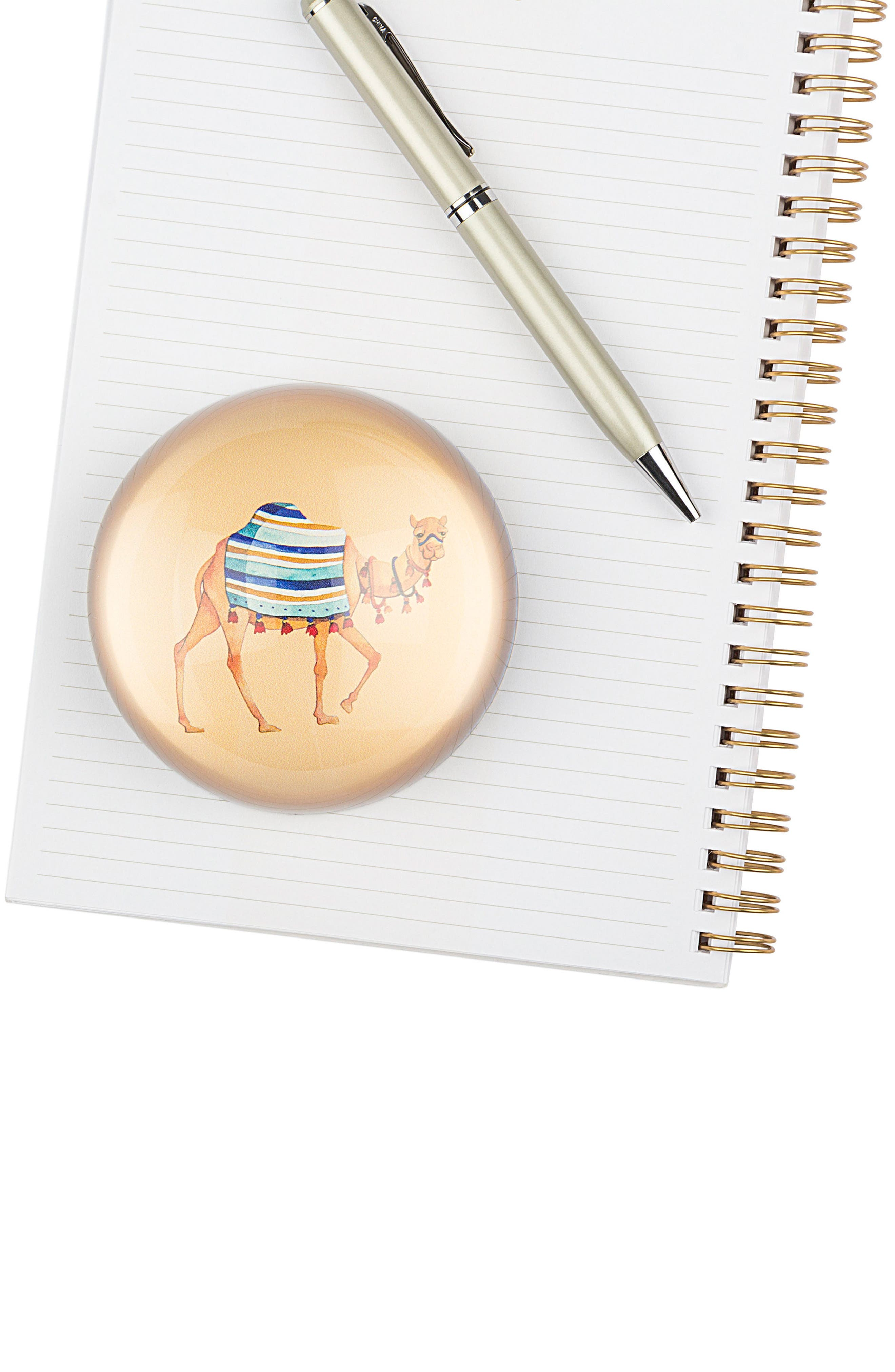 Camel Domed Glass Paperweight,                             Alternate thumbnail 4, color,                             800