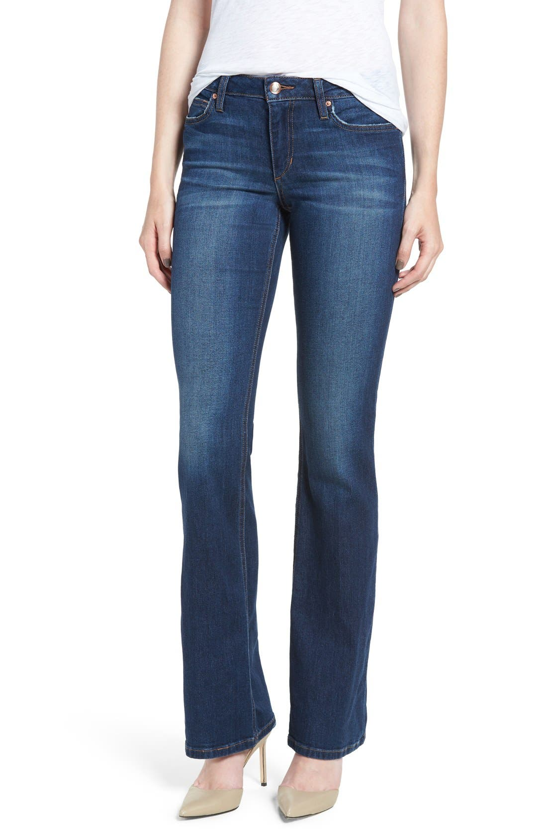 'Flawless - Honey' Curvy Bootcut Jeans,                             Alternate thumbnail 5, color,                             410