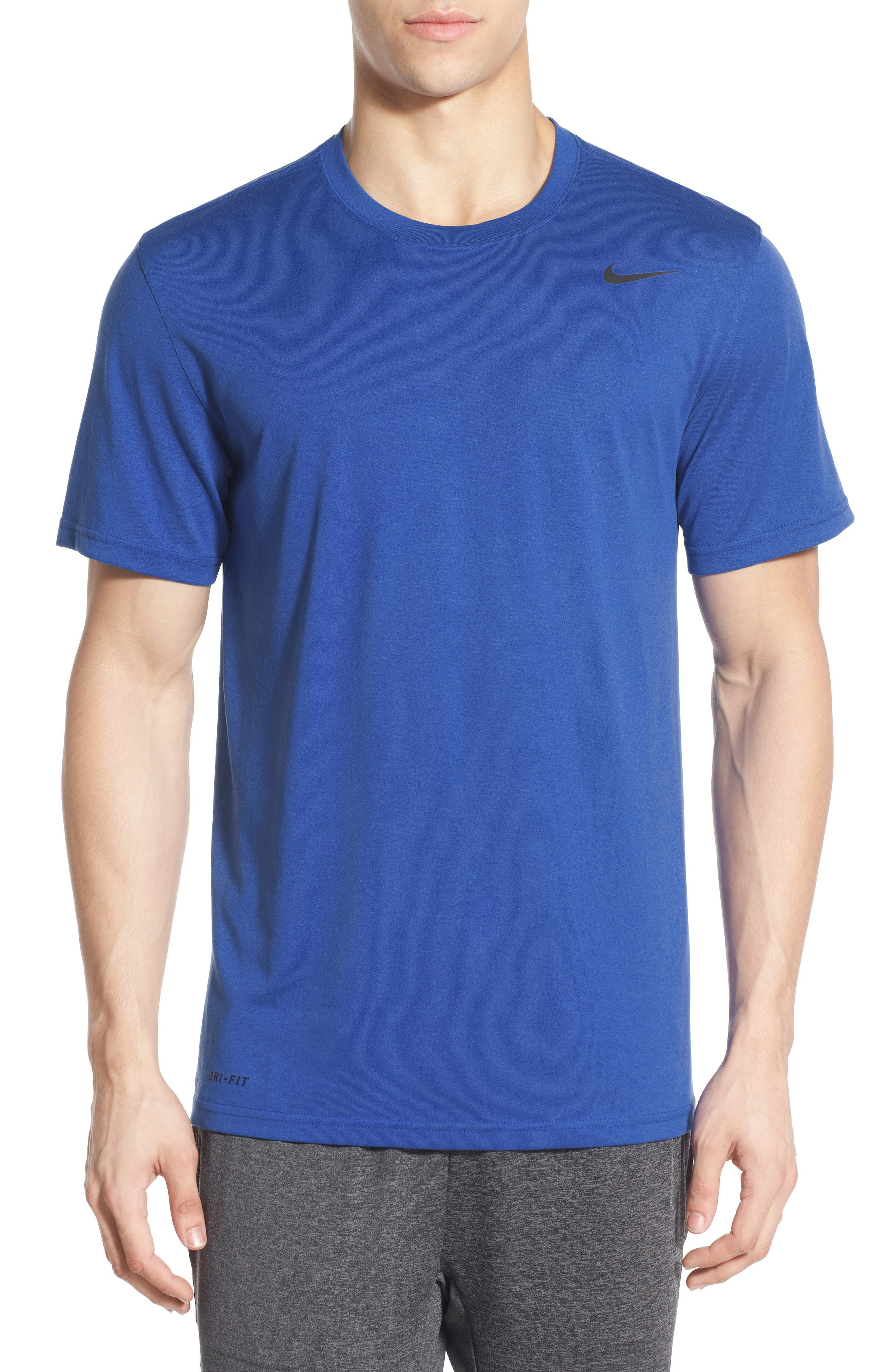 'Legend 2.0' Dri-FIT Training T-Shirt,                             Alternate thumbnail 7, color,                             GAME ROYAL/ BLACK/ BLACK