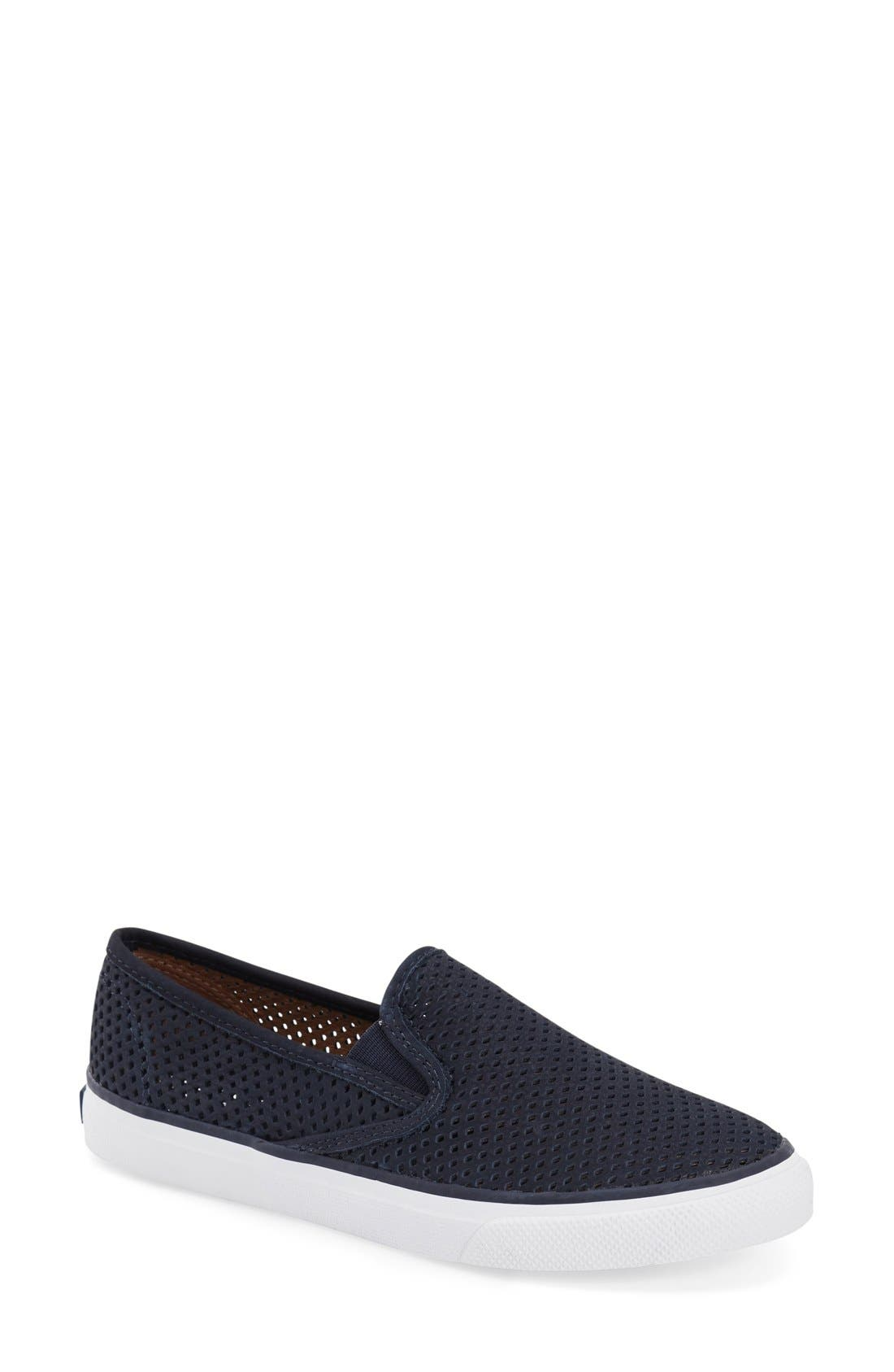 'Seaside' Perforated Slip-On Sneaker,                             Main thumbnail 8, color,