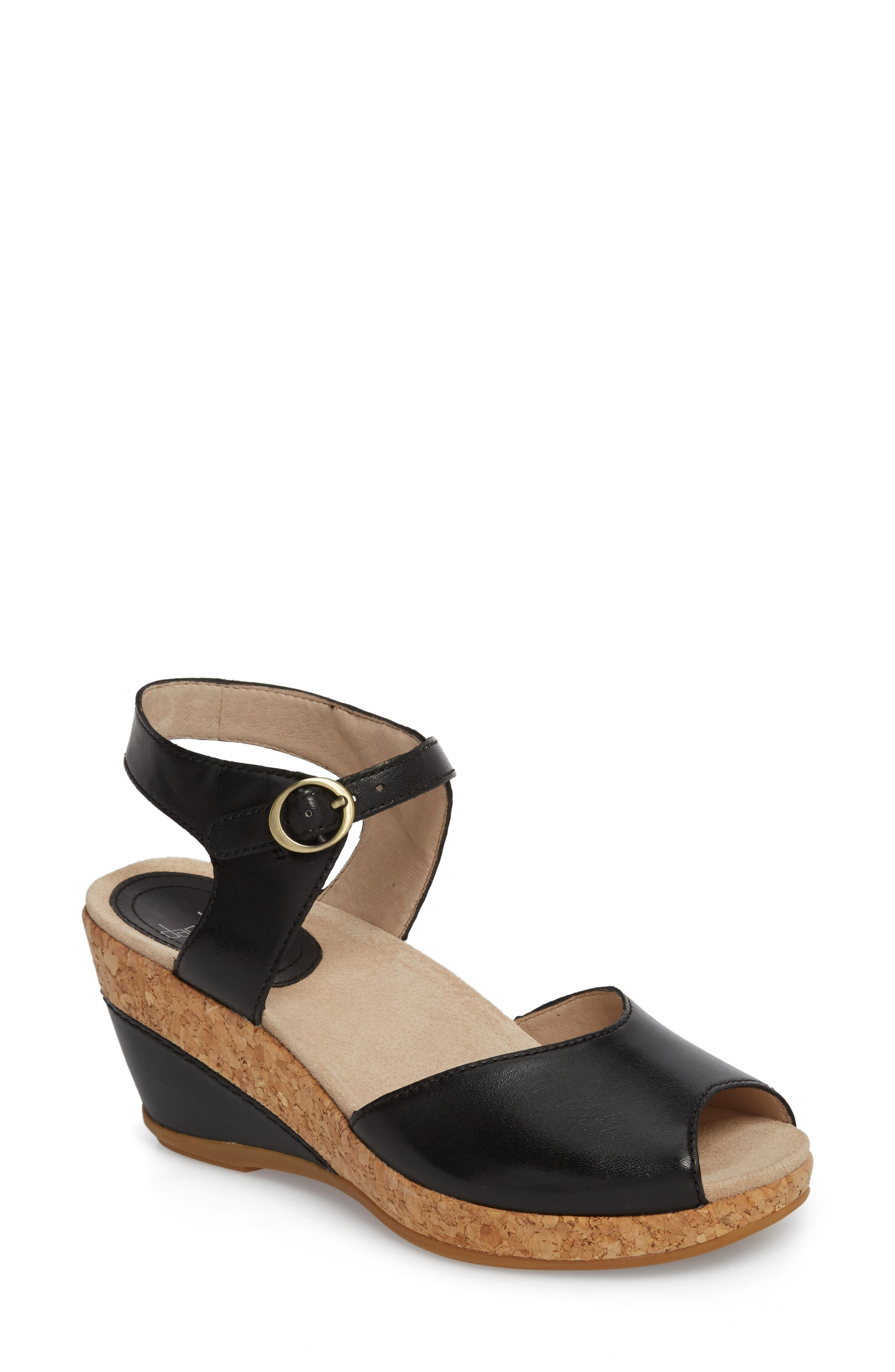 Wedge Sandal,                         Main,                         color, 001
