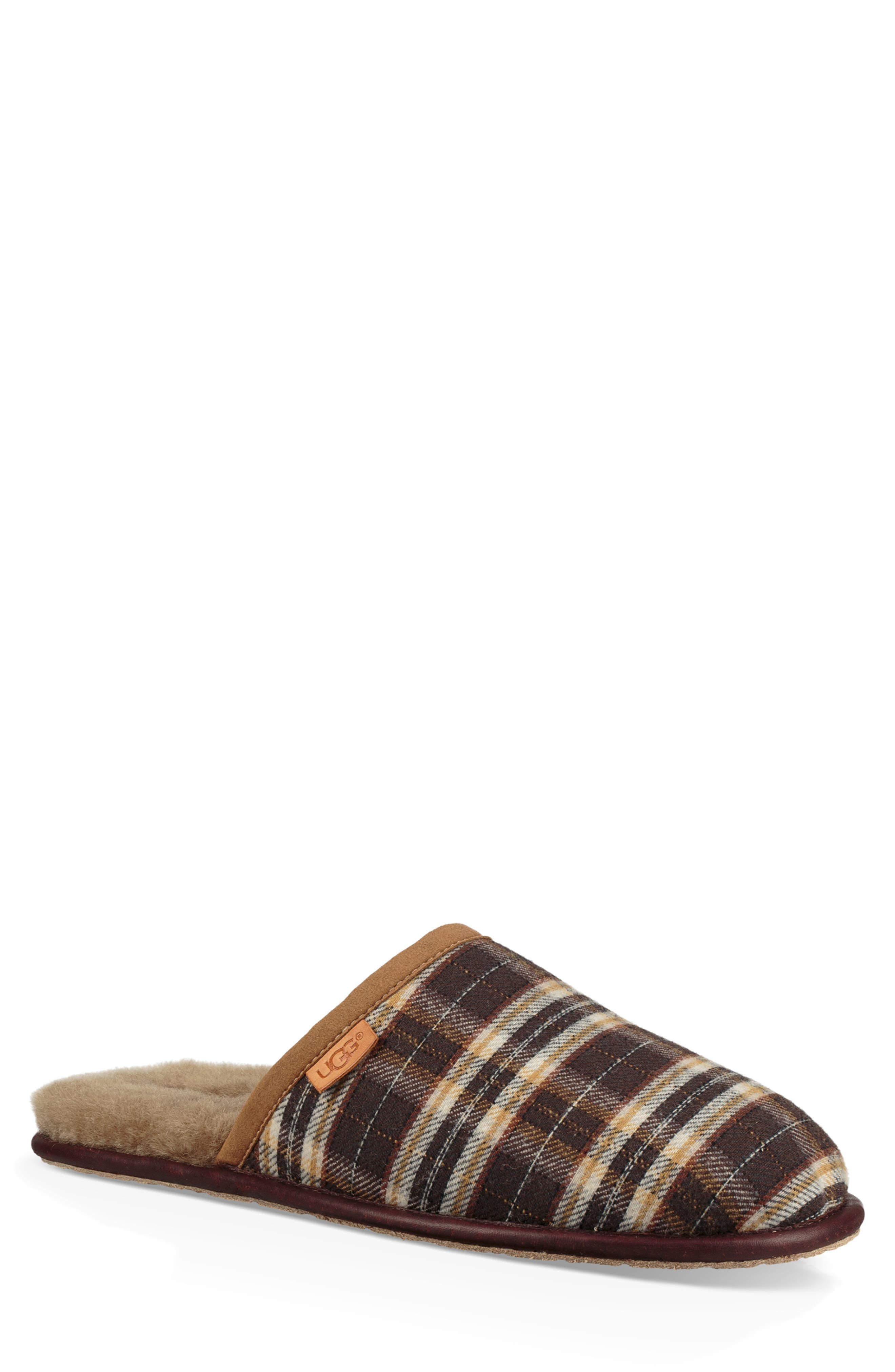 Scuff Slipper,                         Main,                         color, CHESTNUT