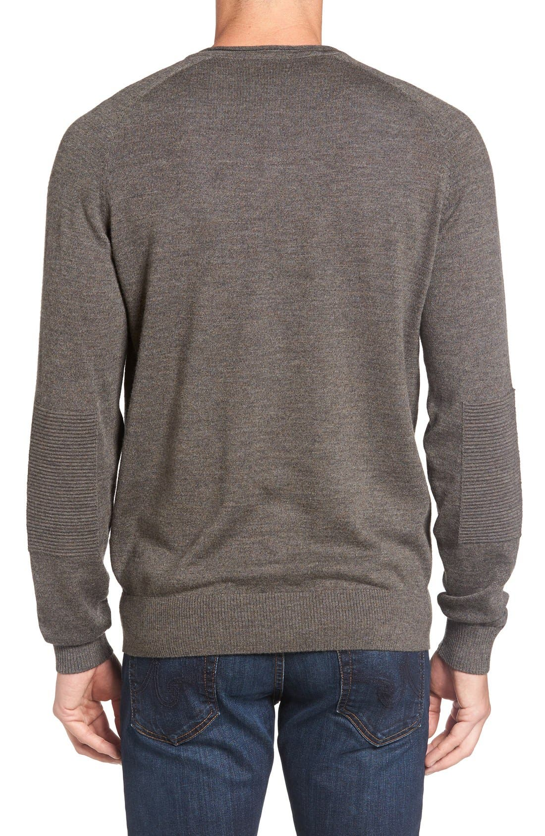 'Burwood Bay' Wool V-Neck Sweater,                             Alternate thumbnail 2, color,                             259