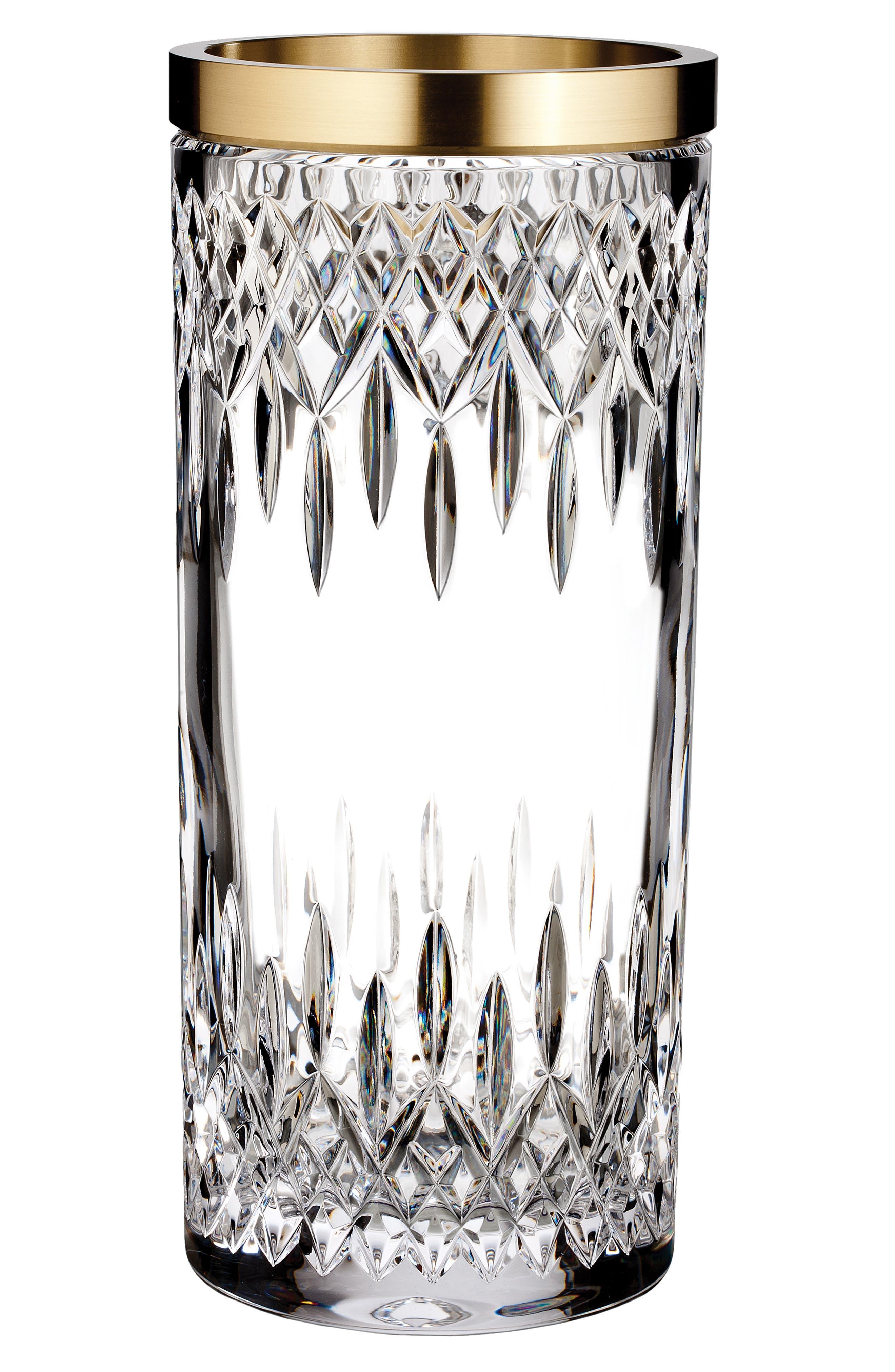 Lismore Reflection 12-Inch Lead Crystal Vase, Main, color, CRYSTAL