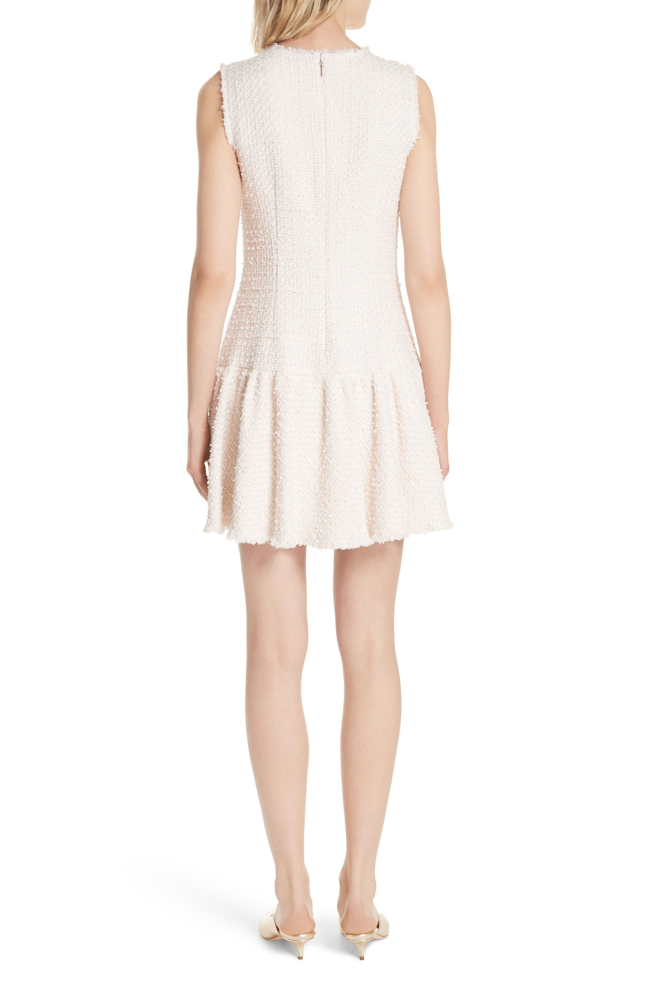 Drop Waist Tweed Dress,                             Alternate thumbnail 2, color,