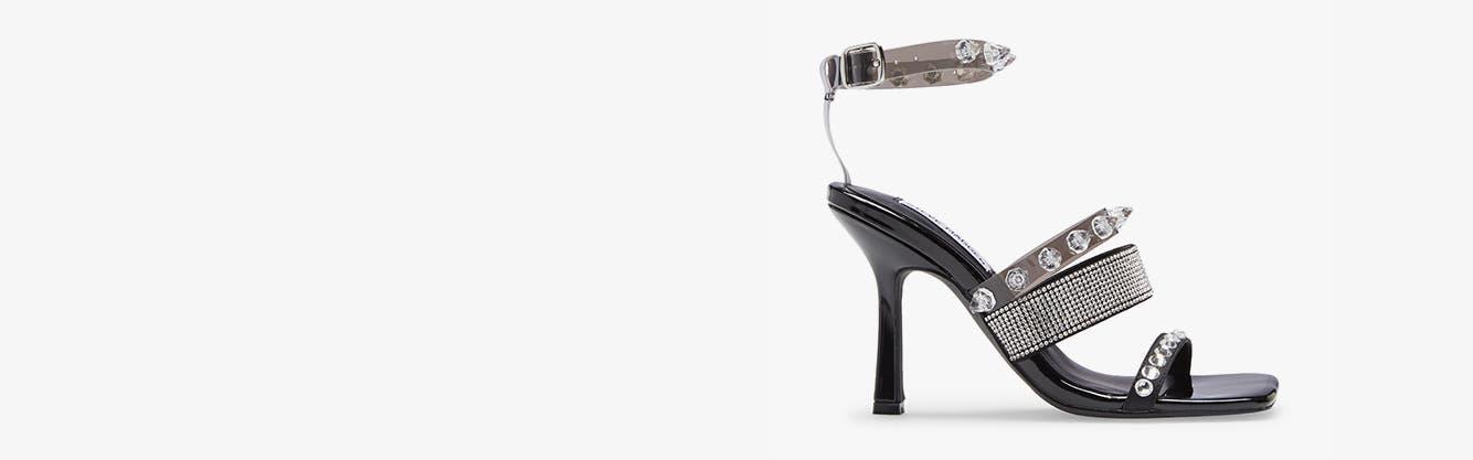 Womens Punk High Heels Stilettos Pumps Ankle Strap Sandals Peep Toe Shoes New
