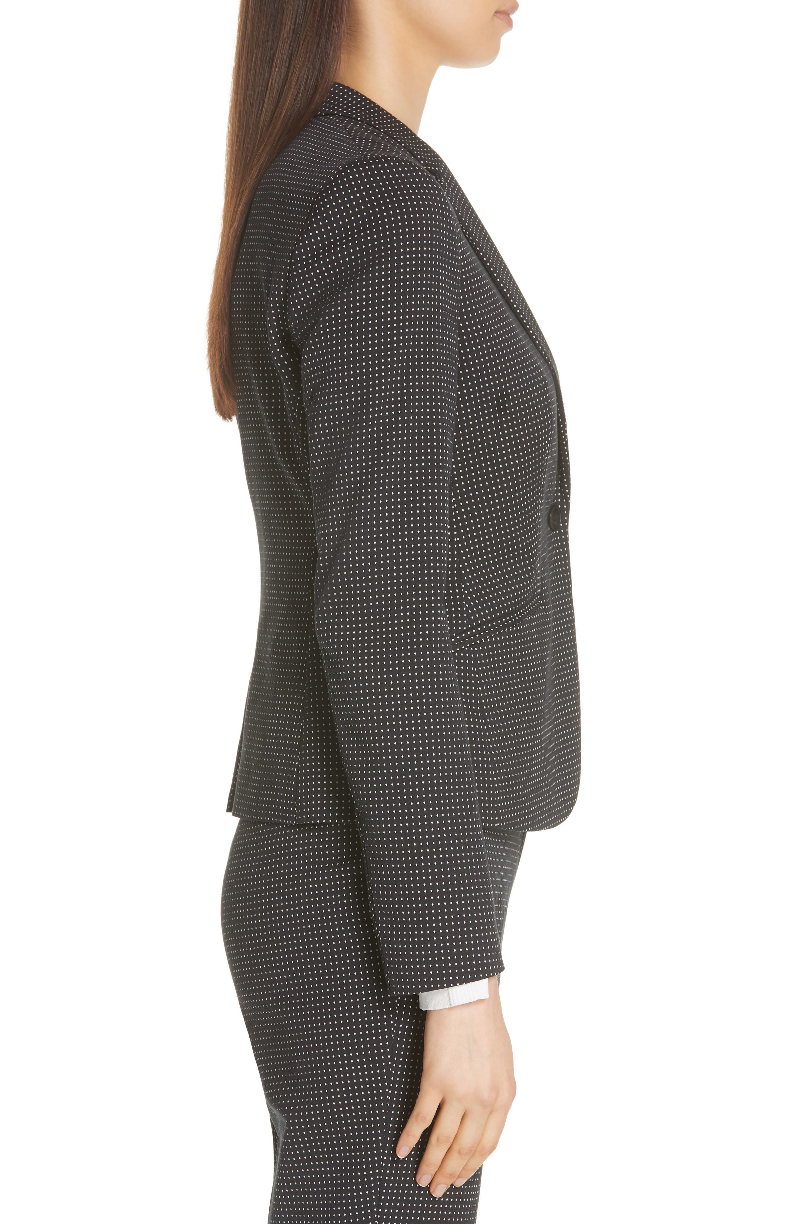 Jumano Dot Stretch Jacket,                             Alternate thumbnail 3, color,                             BLACK FANTASY