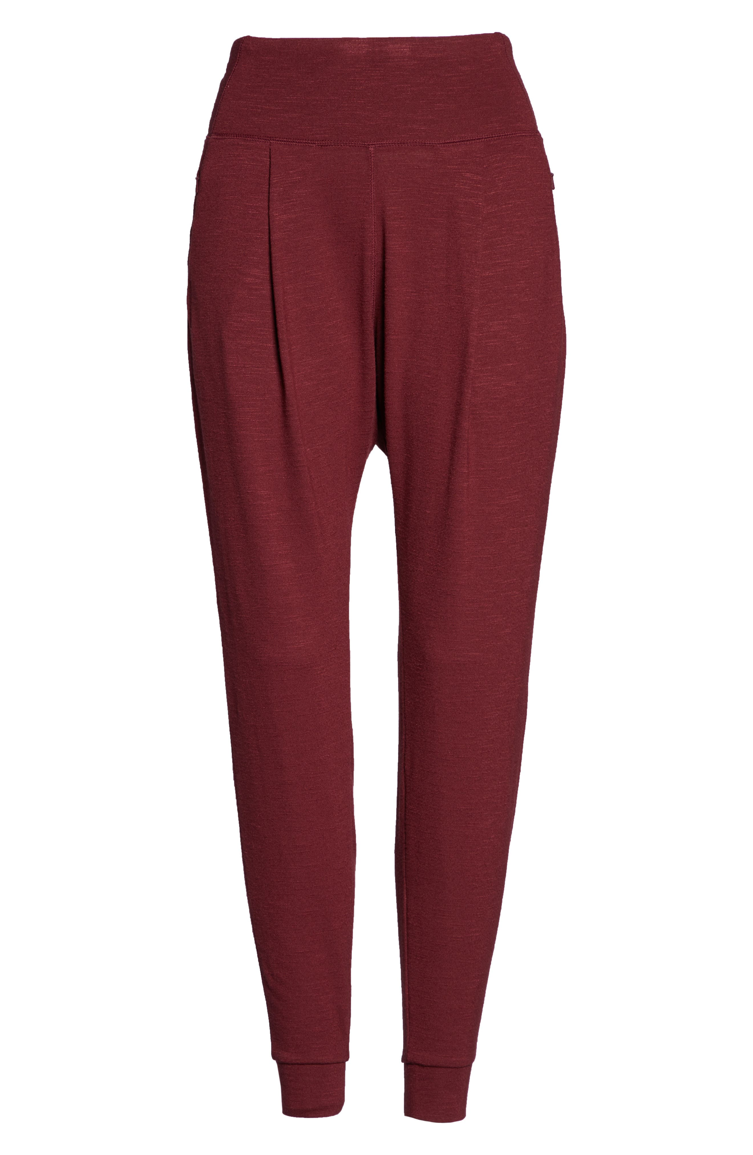 ZELLA,                             Flow with It Ankle Pants,                             Alternate thumbnail 7, color,                             RED TANNIN
