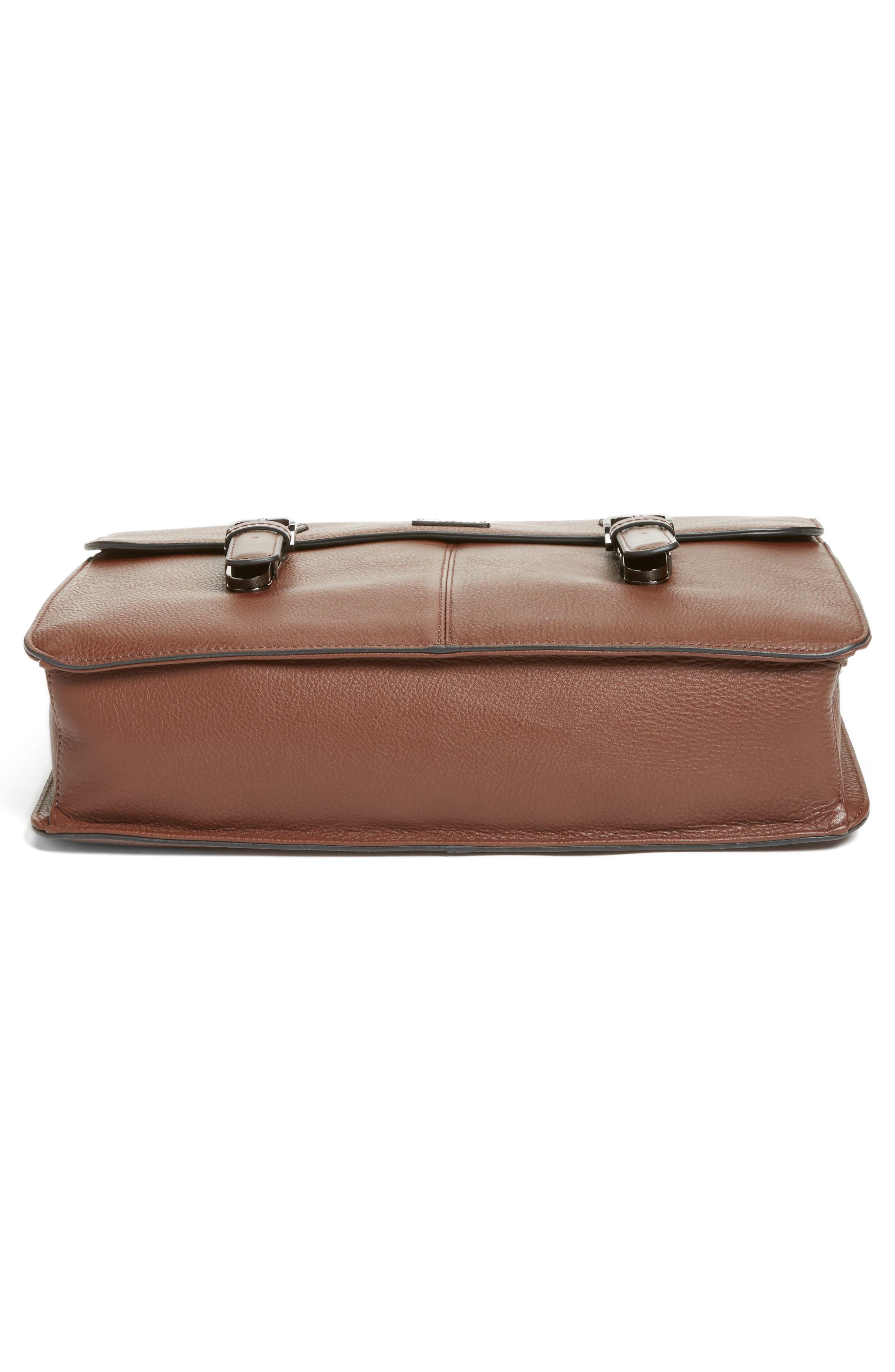 Bengal Leather Satchel,                             Alternate thumbnail 12, color,
