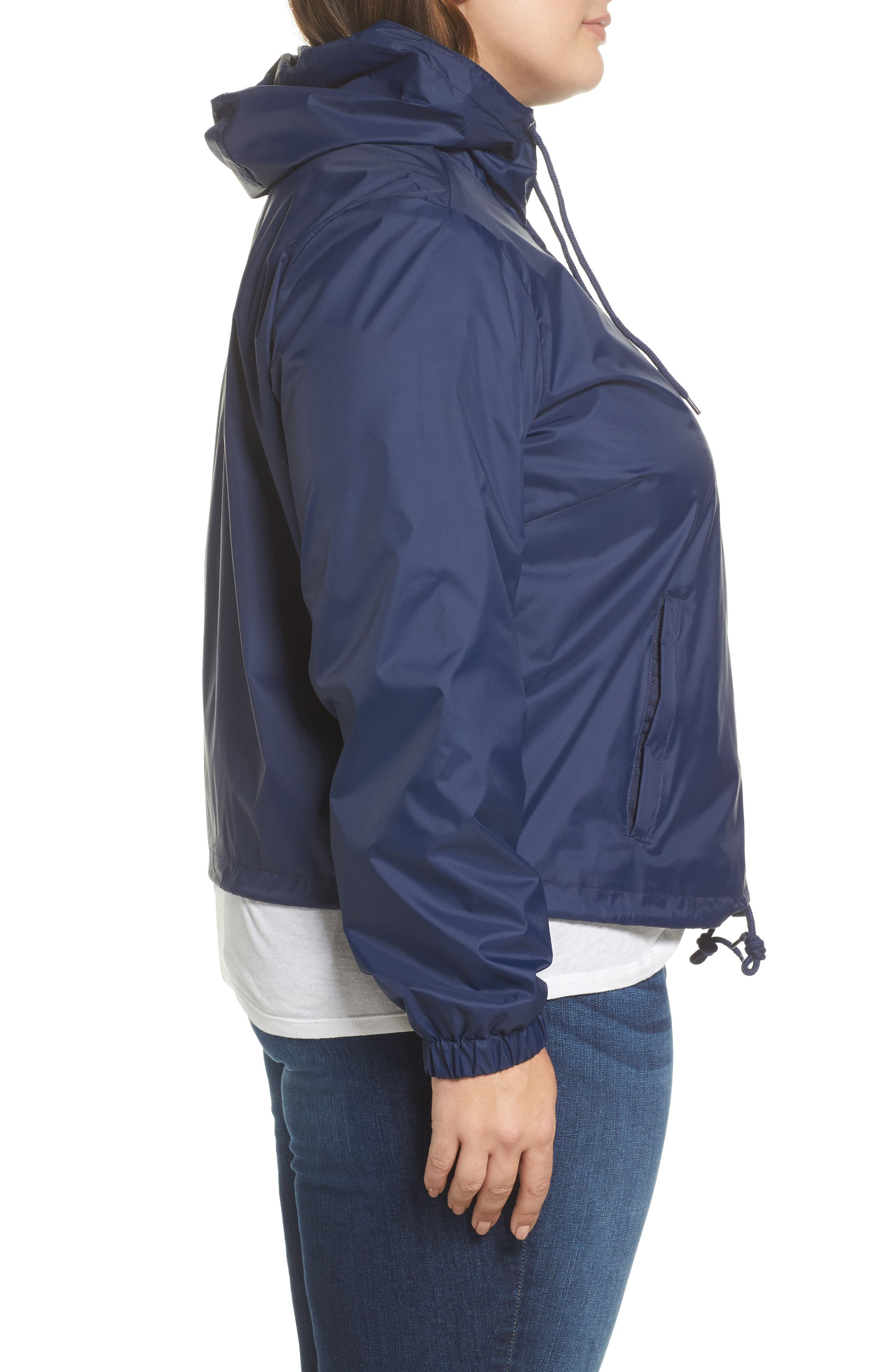 Retro Hooded Coach's Jacket,                             Alternate thumbnail 10, color,
