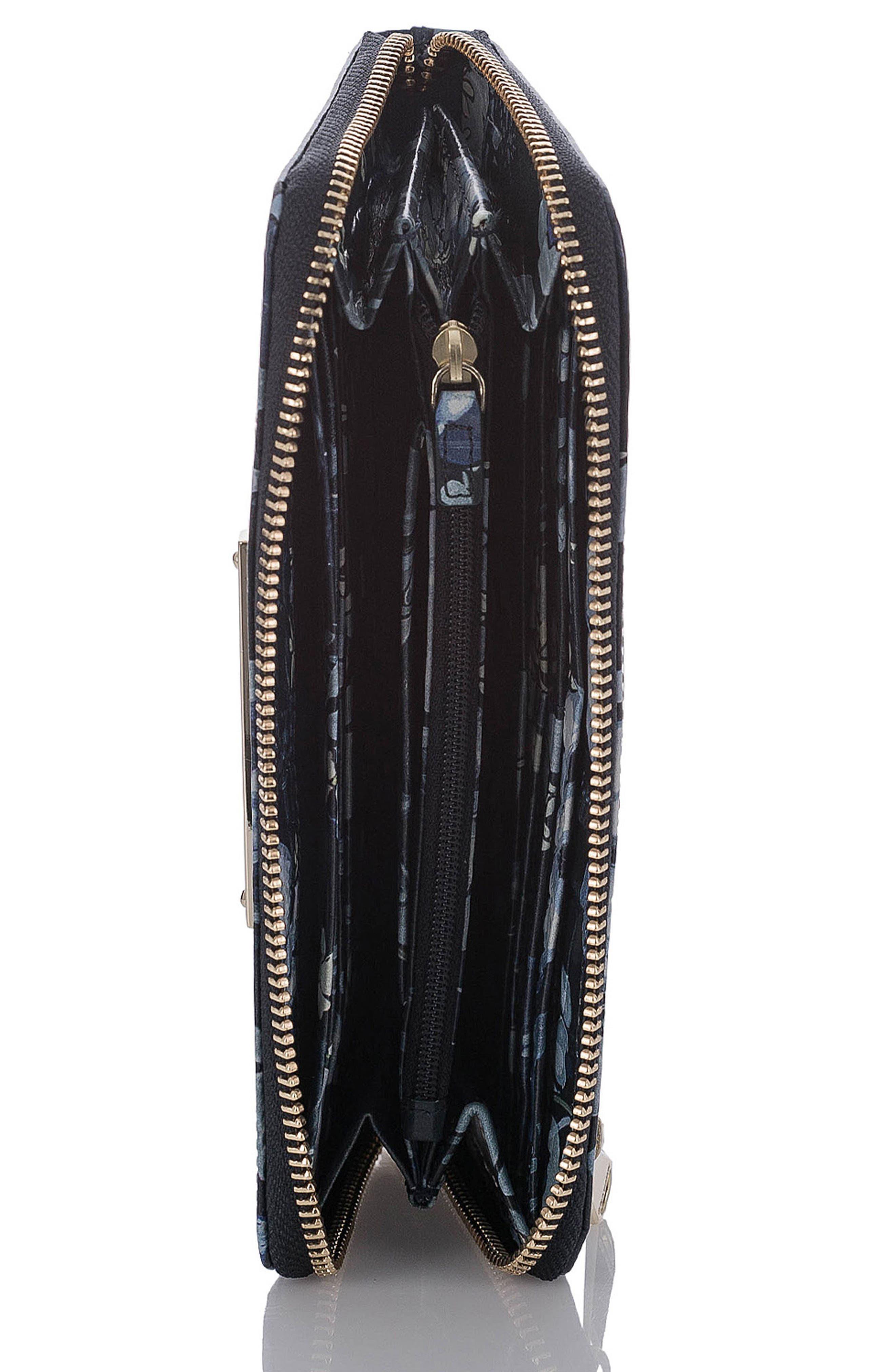 Suri Leather Zip Around Wallet,                             Alternate thumbnail 5, color,