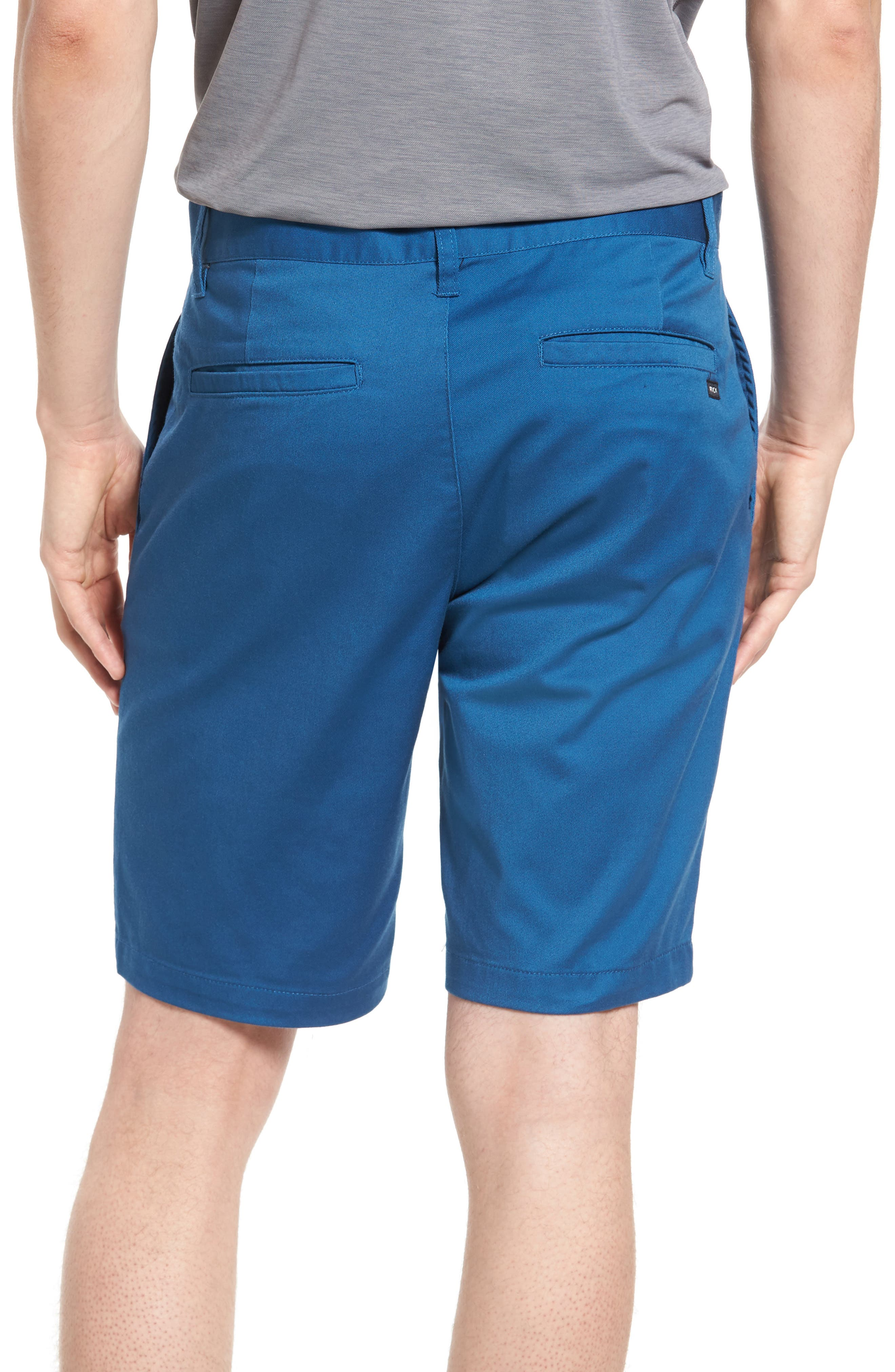 The Week-End Stretch Twill Chino Shorts,                             Alternate thumbnail 2, color,                             DARK BLUE