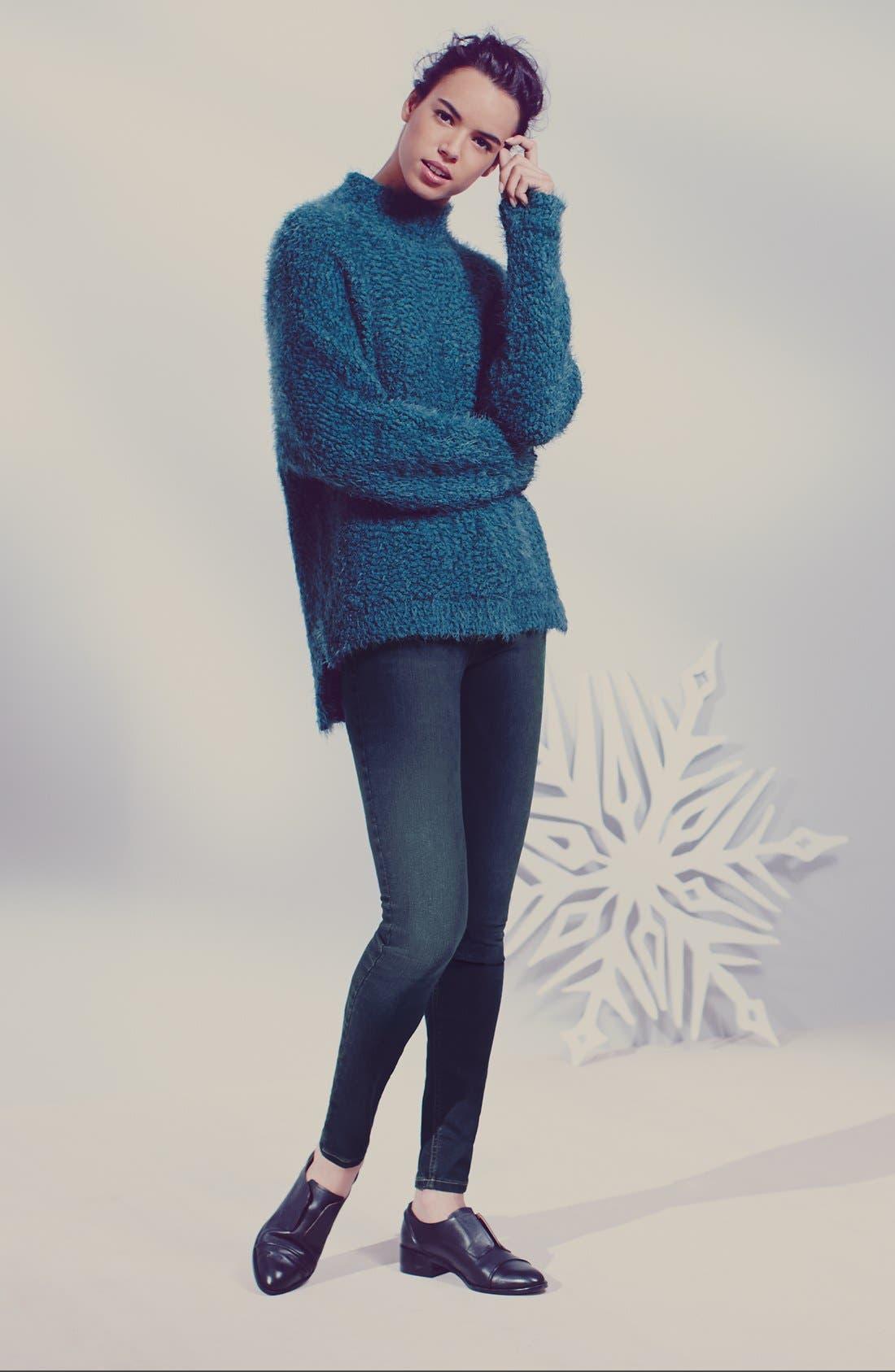 Fluffy Dolman Sweater,                             Main thumbnail 1, color,                             001