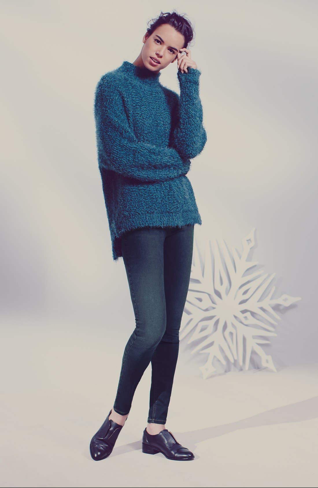 Fluffy Dolman Sweater,                         Main,                         color, 001