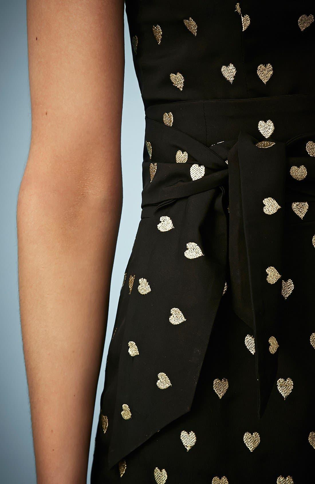 Kate Moss for Topshop Embellished Hearts Romper,                             Alternate thumbnail 3, color,