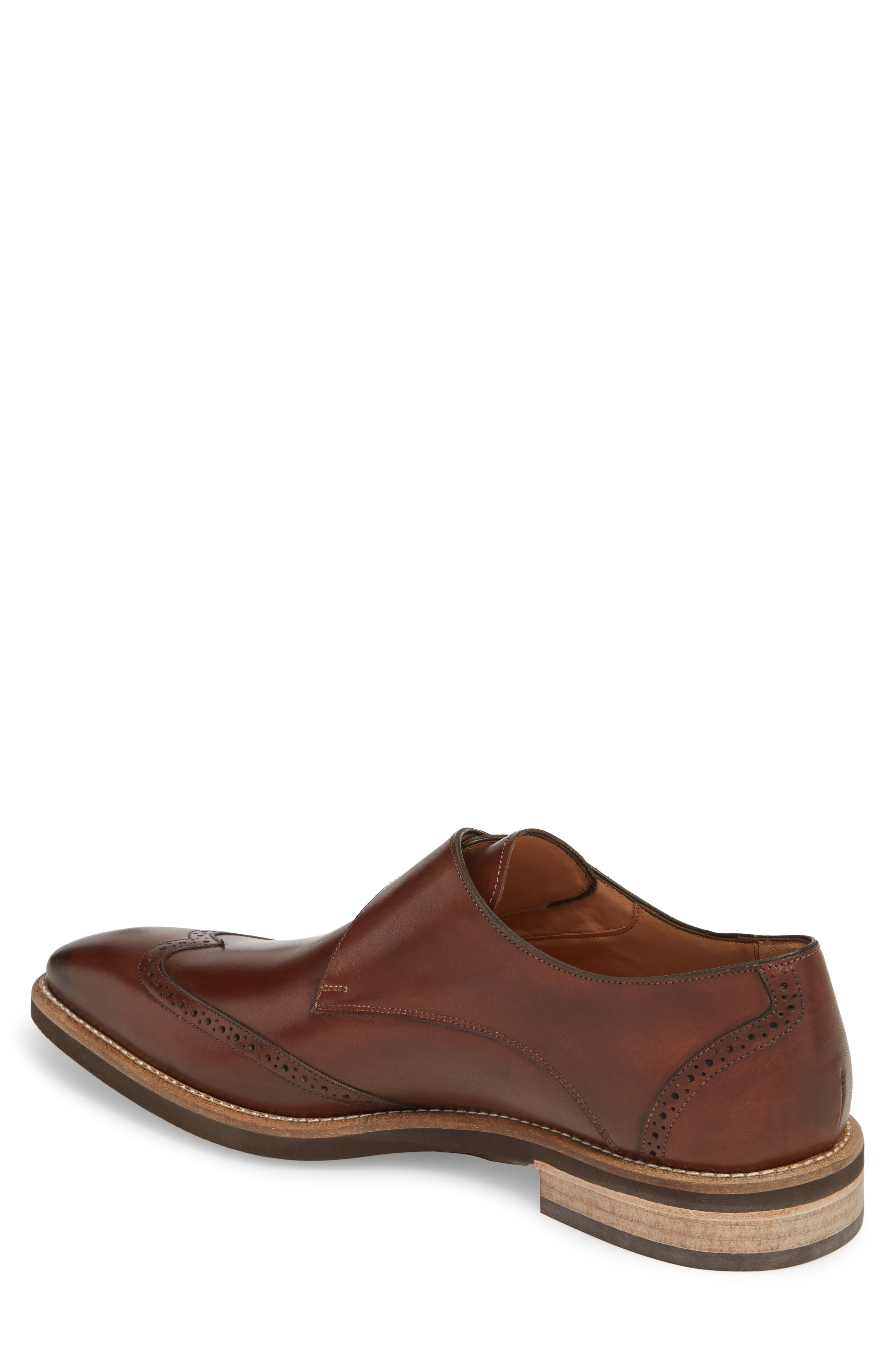 Feresta Wingtip Monk Shoe,                             Alternate thumbnail 2, color,                             COGNAC