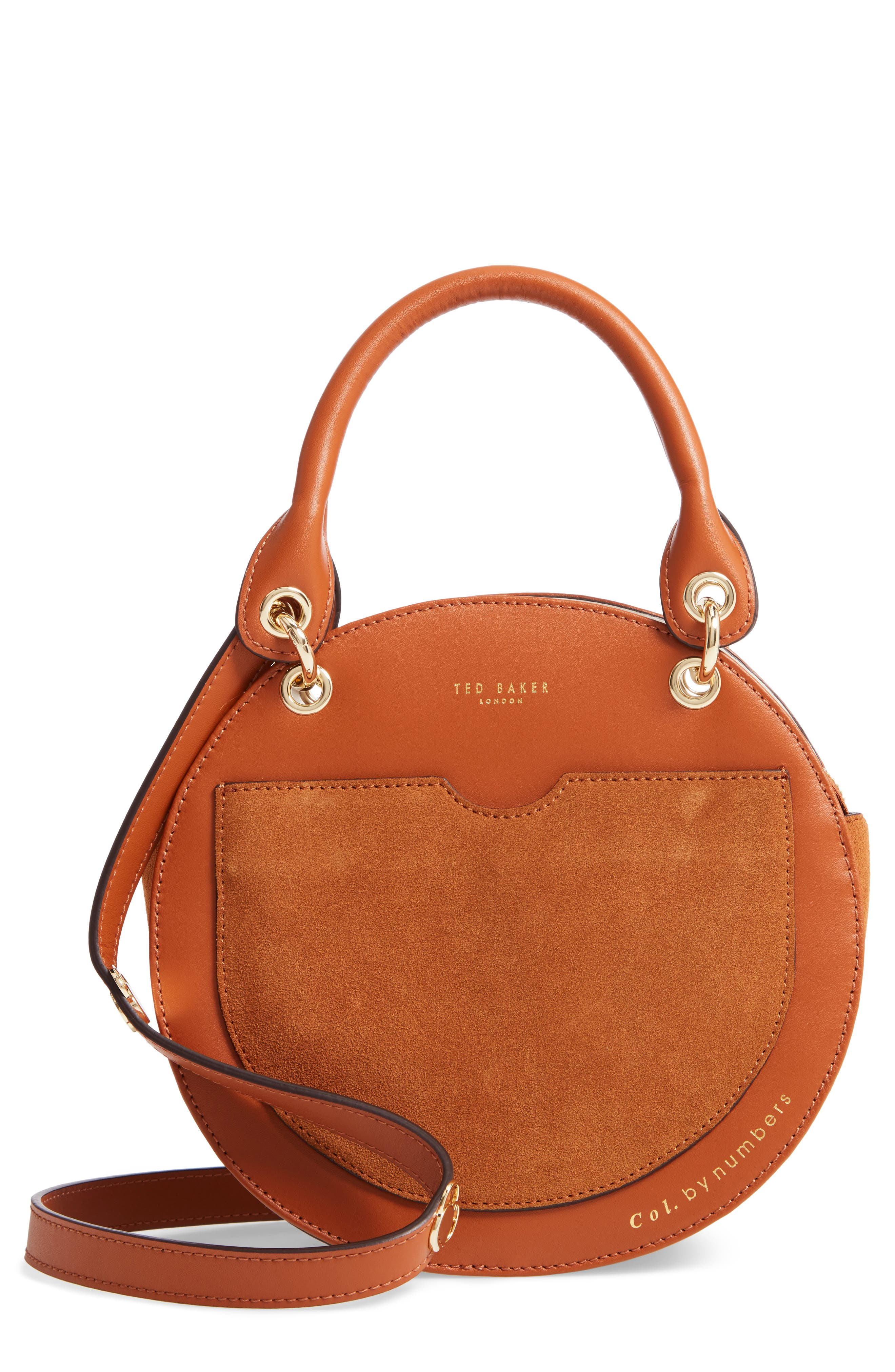 Colour by Numbers Sunnie Leather Circle Bag,                             Main thumbnail 1, color,                             217