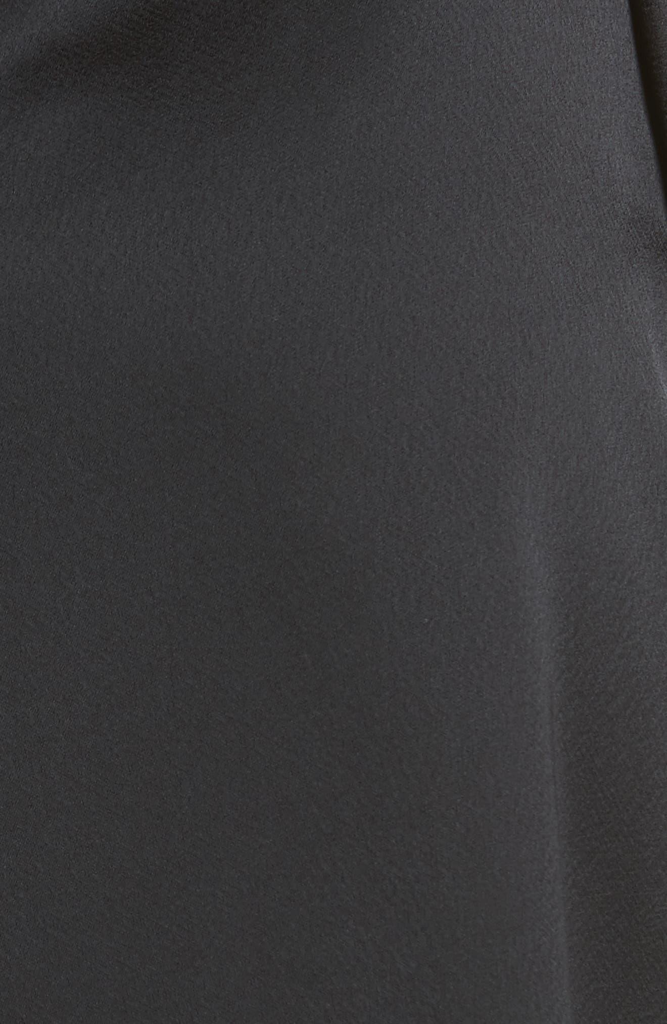 Asymmetric Satin Dress,                             Alternate thumbnail 5, color,                             001