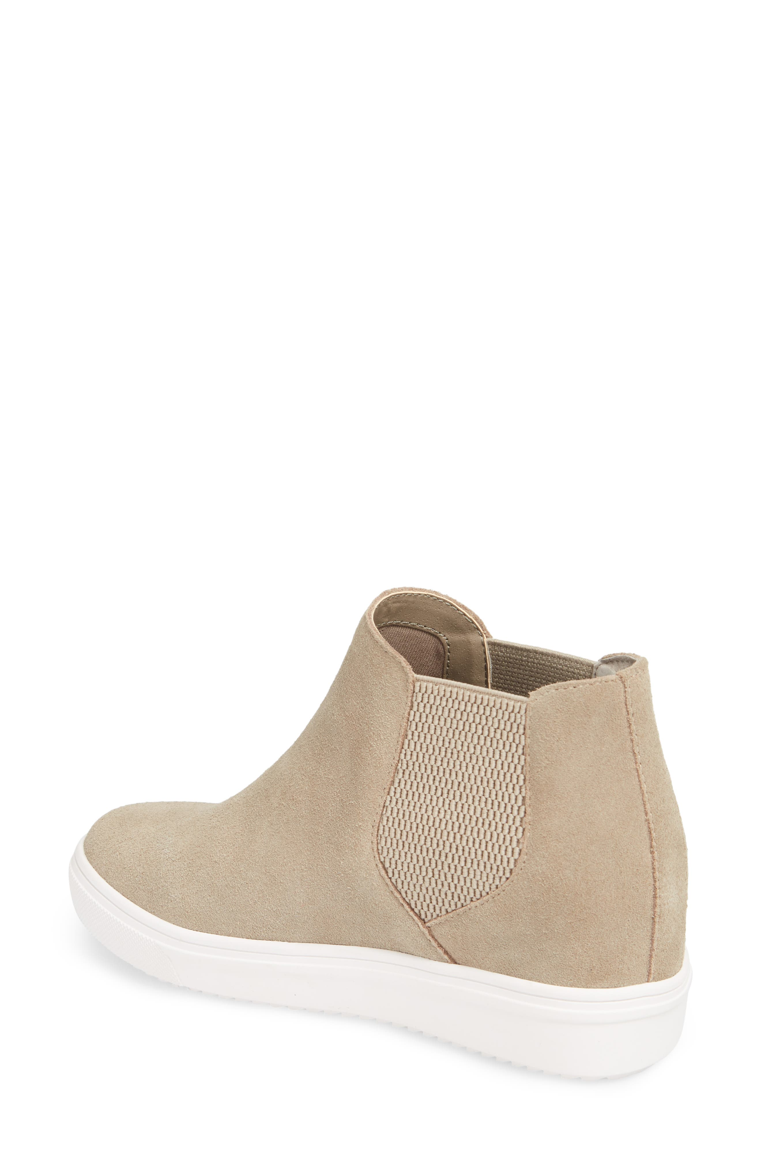Sultan Chelsea Wedge Sneaker,                             Alternate thumbnail 2, color,                             TAUPE SUEDE