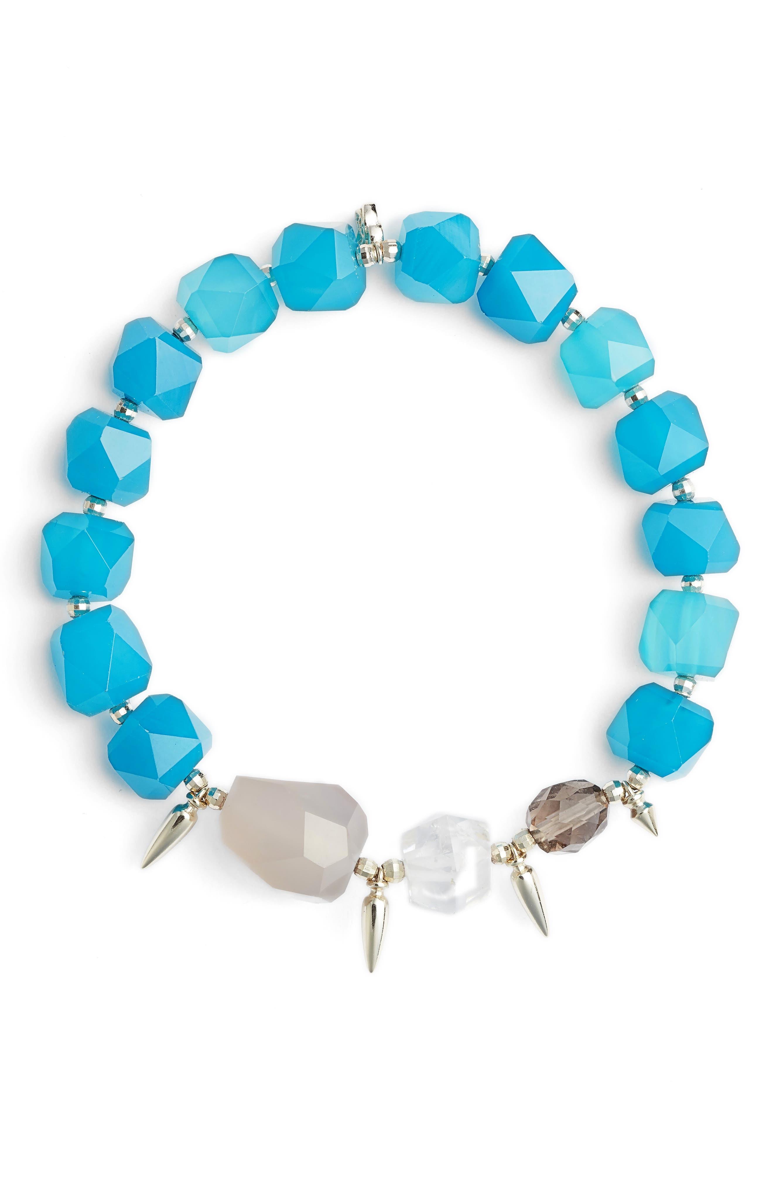 Sadie Beaded Stretch Bracelet,                         Main,                         color, 440