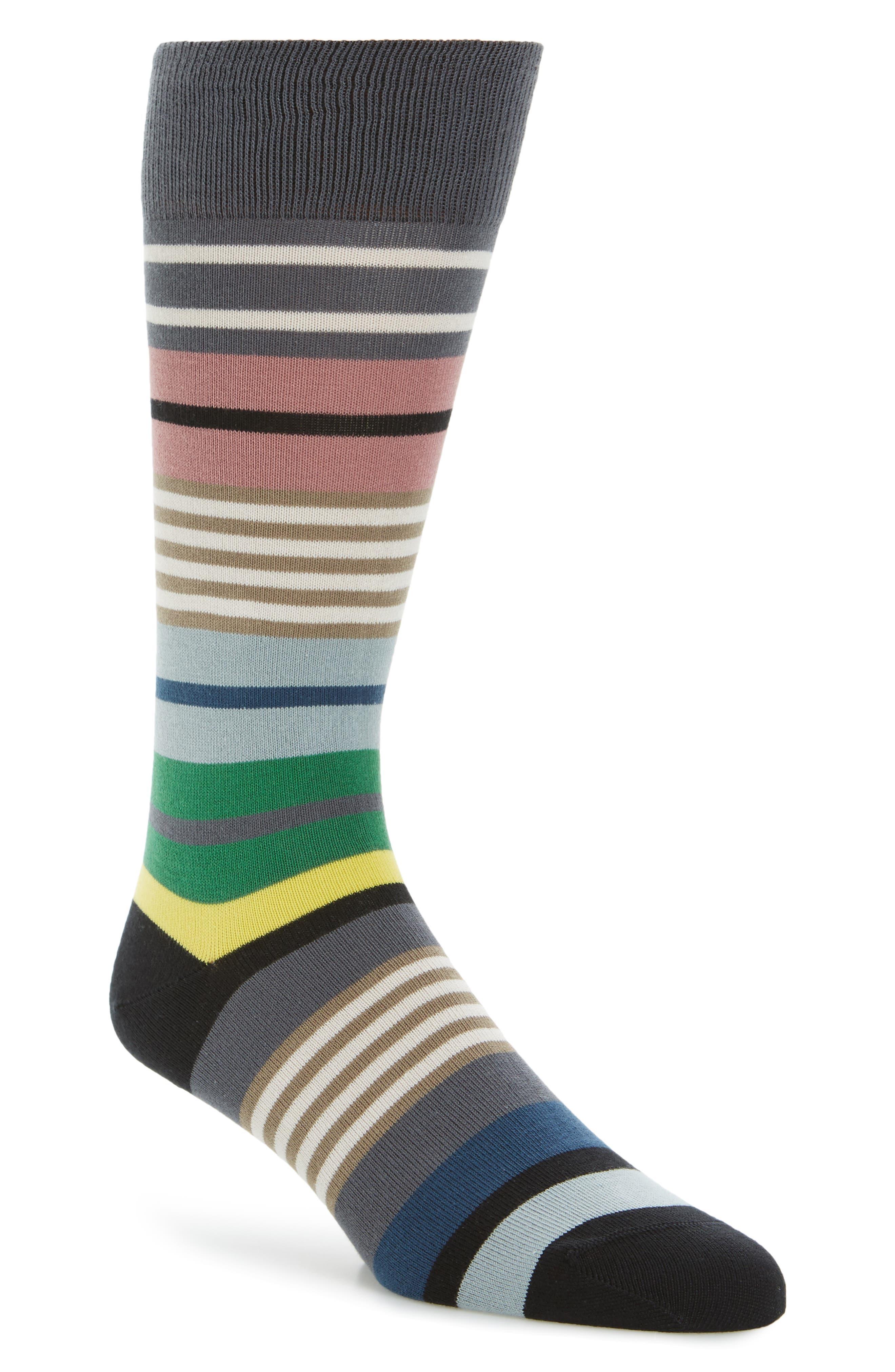 Fennel Stripe Socks,                             Main thumbnail 1, color,                             376