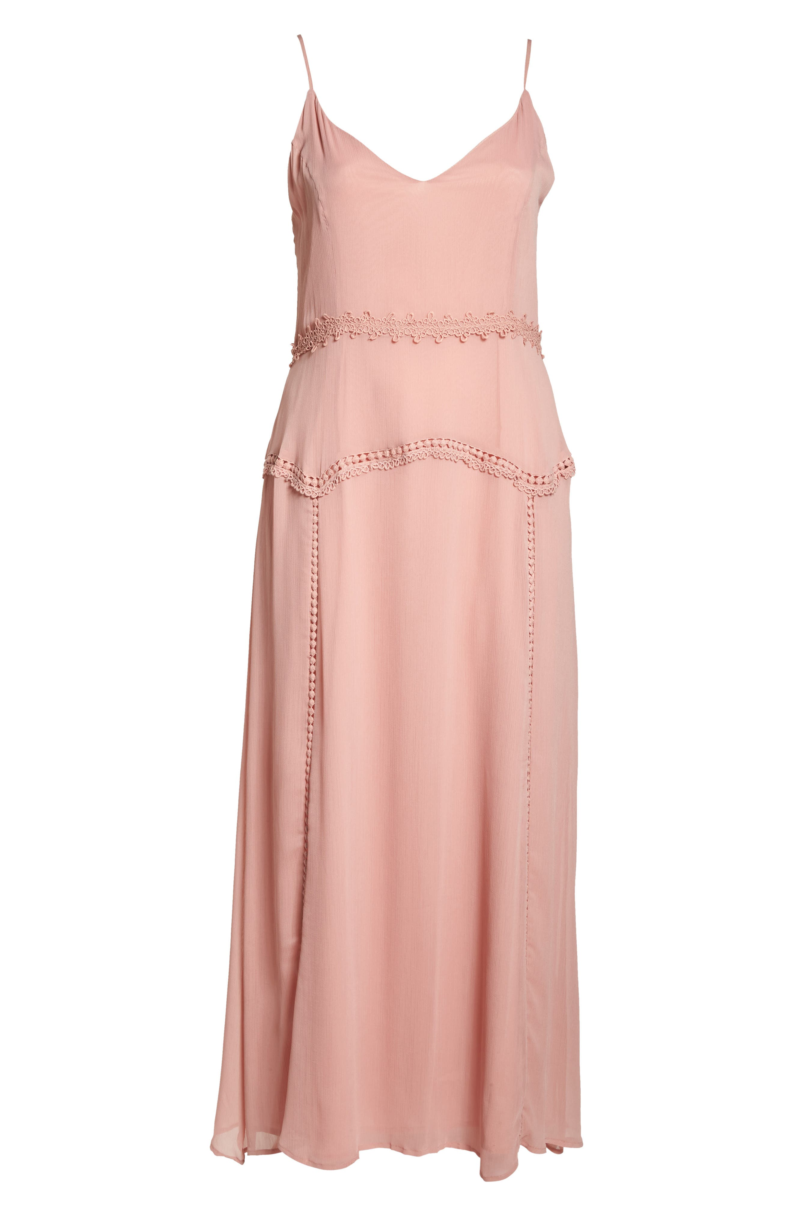 Picot Trim Maxi Dress,                             Alternate thumbnail 7, color,                             650