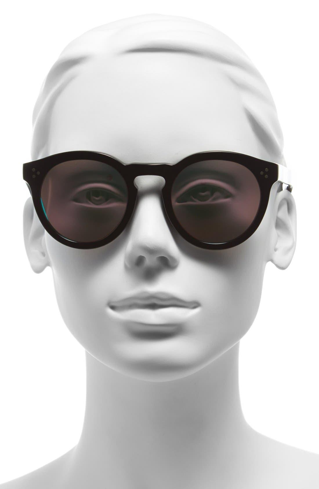 'Leonard II' 50mm Round Mirrored Sunglasses,                             Alternate thumbnail 2, color,                             001