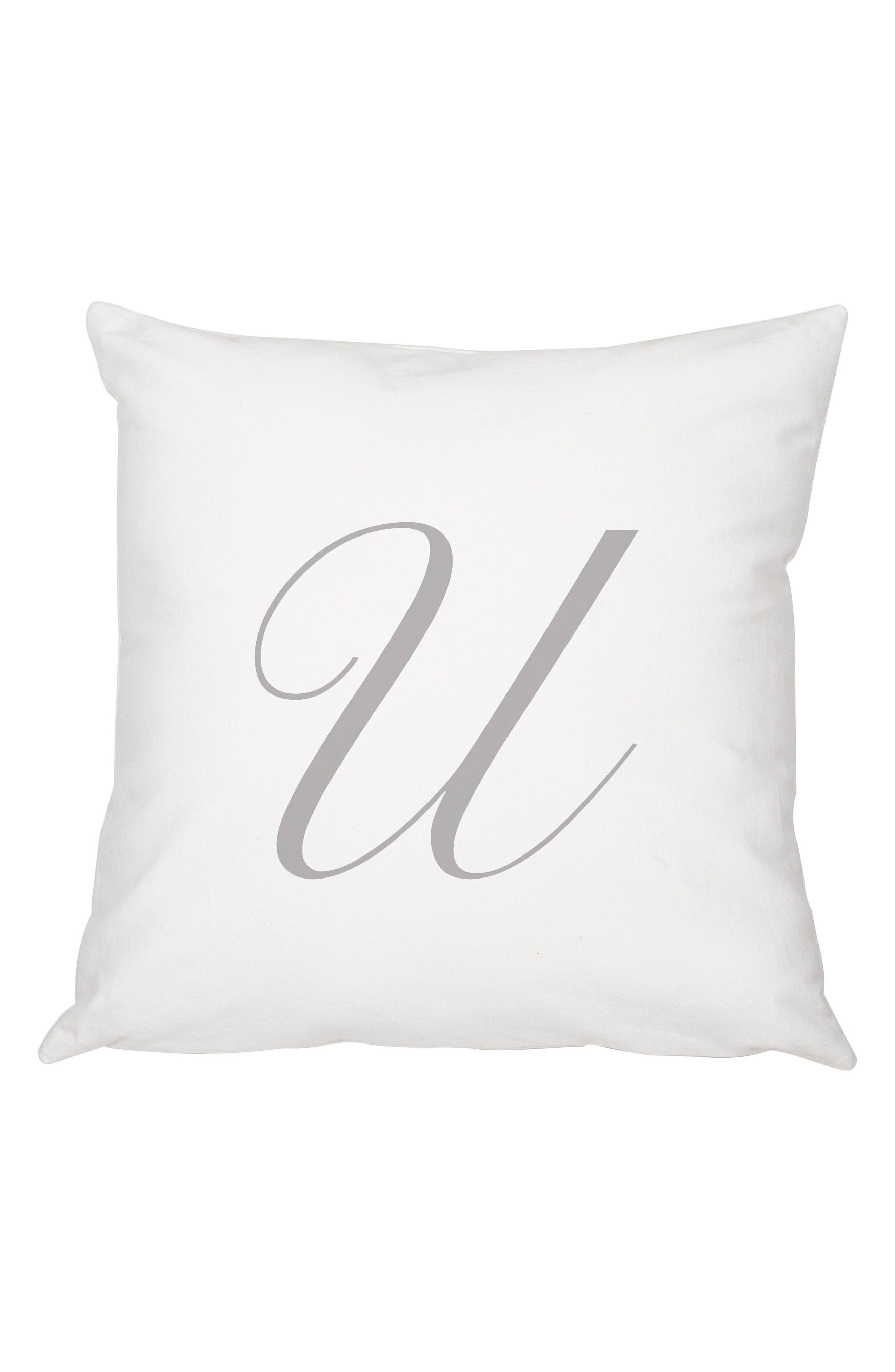 Script Monogram Accent Pillow,                             Main thumbnail 21, color,