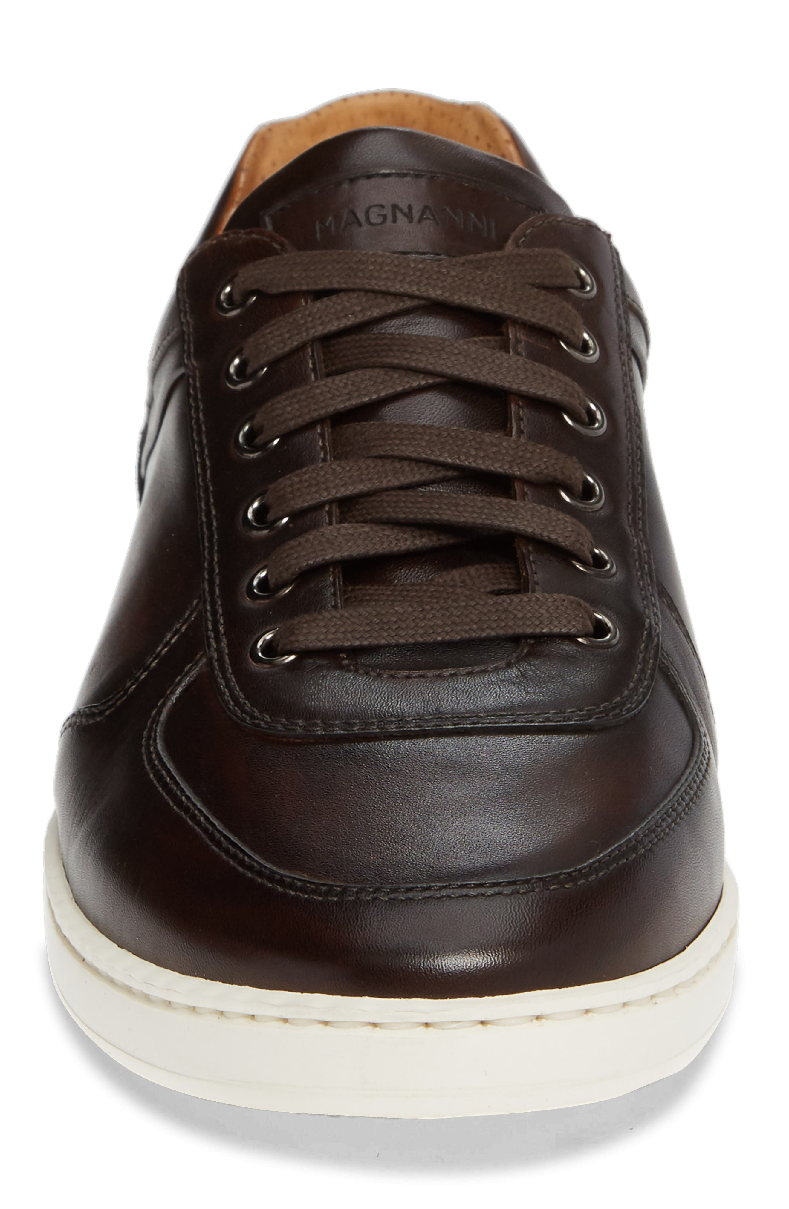 Echo Sneaker,                             Alternate thumbnail 4, color,                             BROWN LEATHER