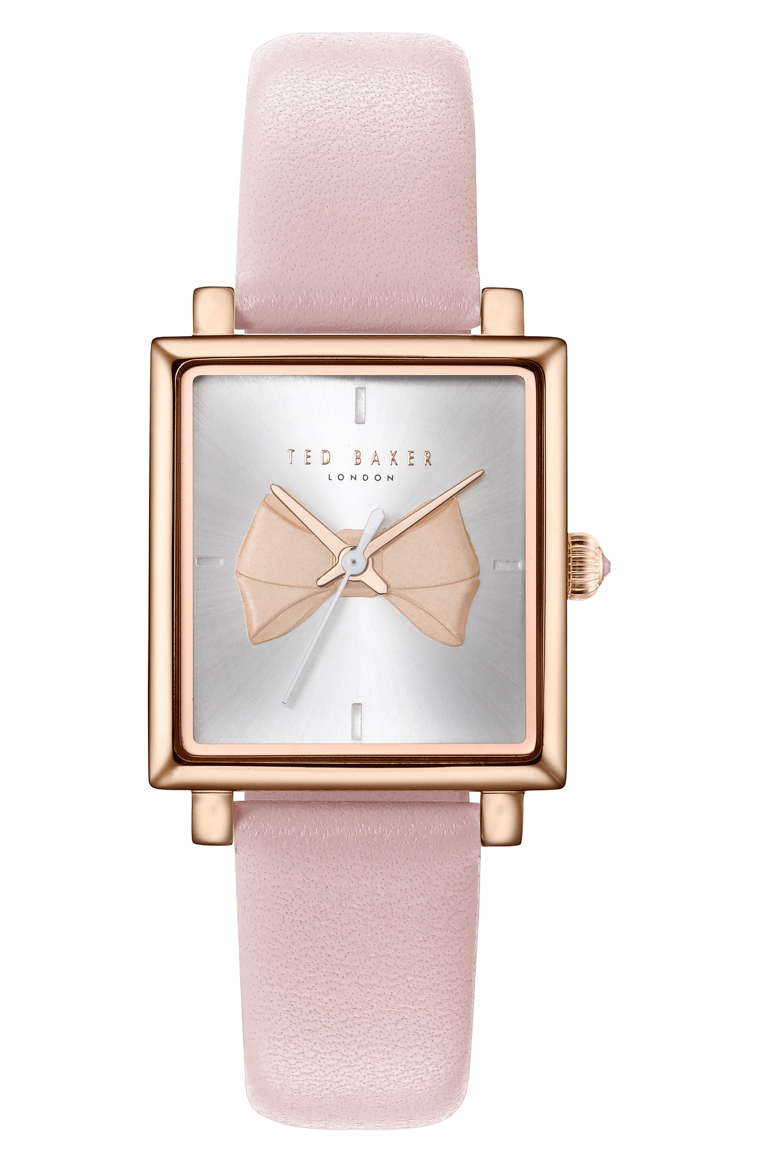 Ted Baker London Isabella Leather Strap Watch, 2m