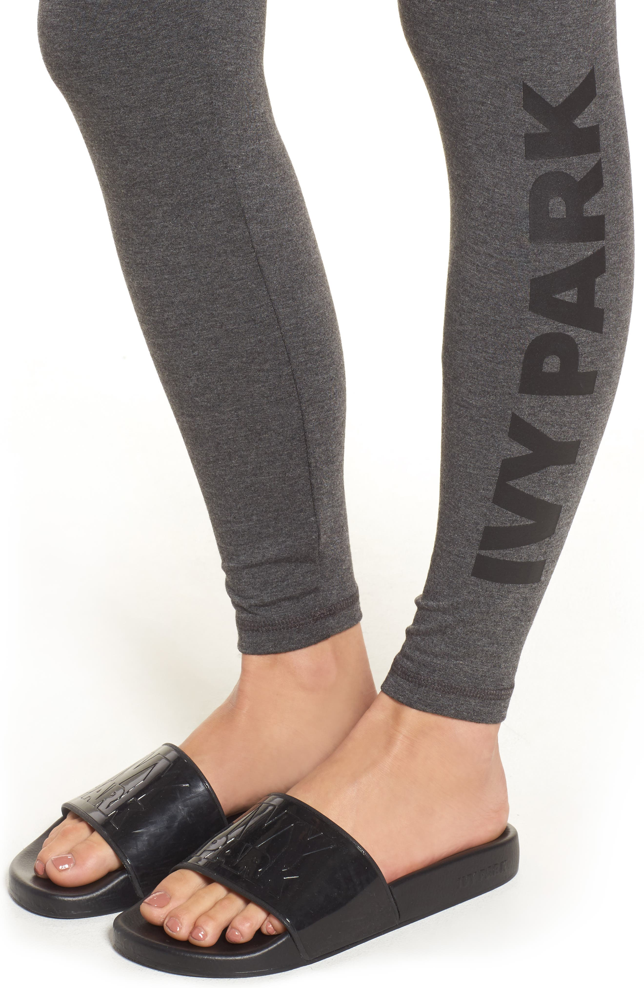 Logo Ankle Leggings,                             Alternate thumbnail 4, color,                             020