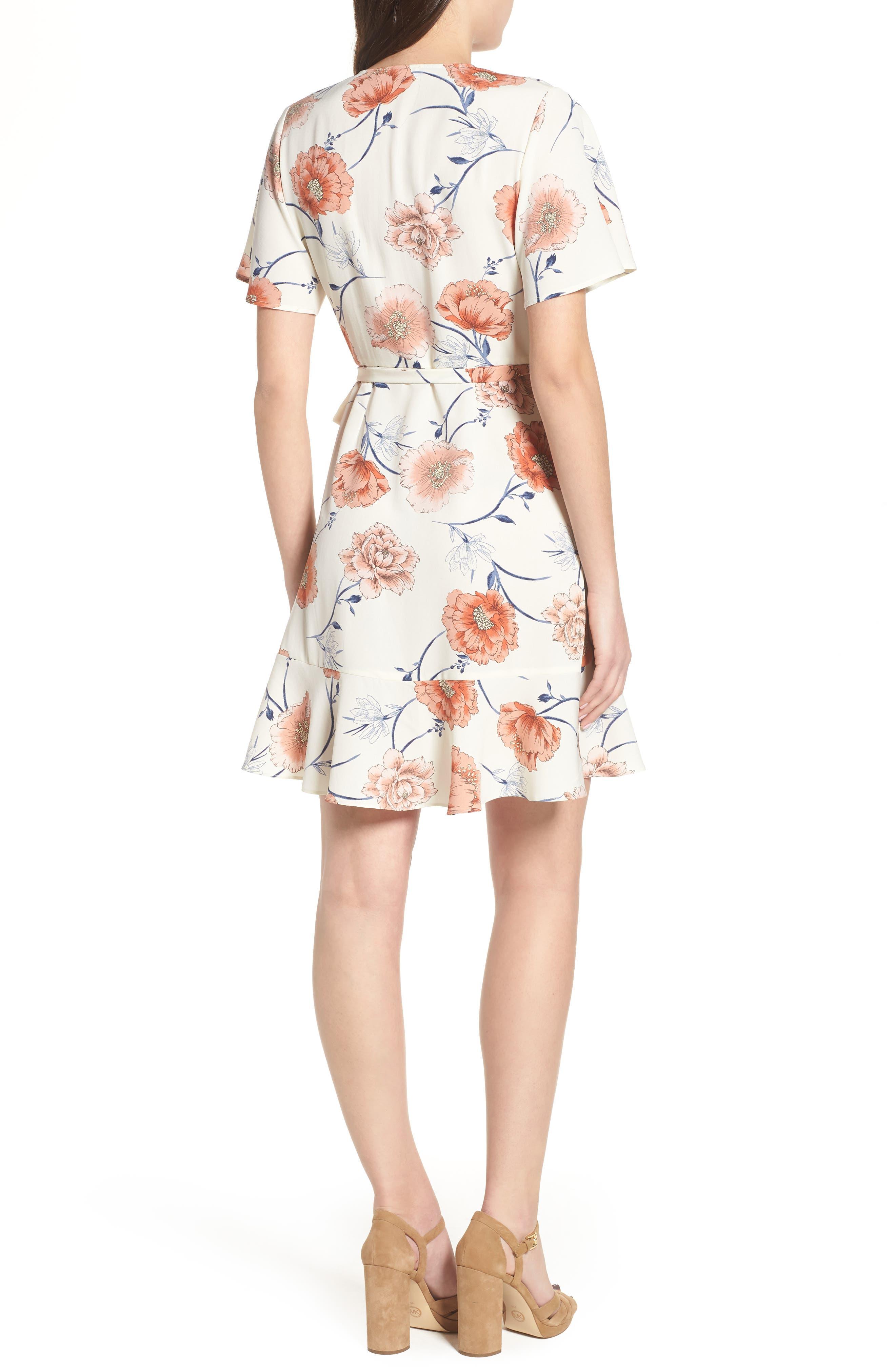 Lucy Floral Wrap Dress,                             Alternate thumbnail 8, color,
