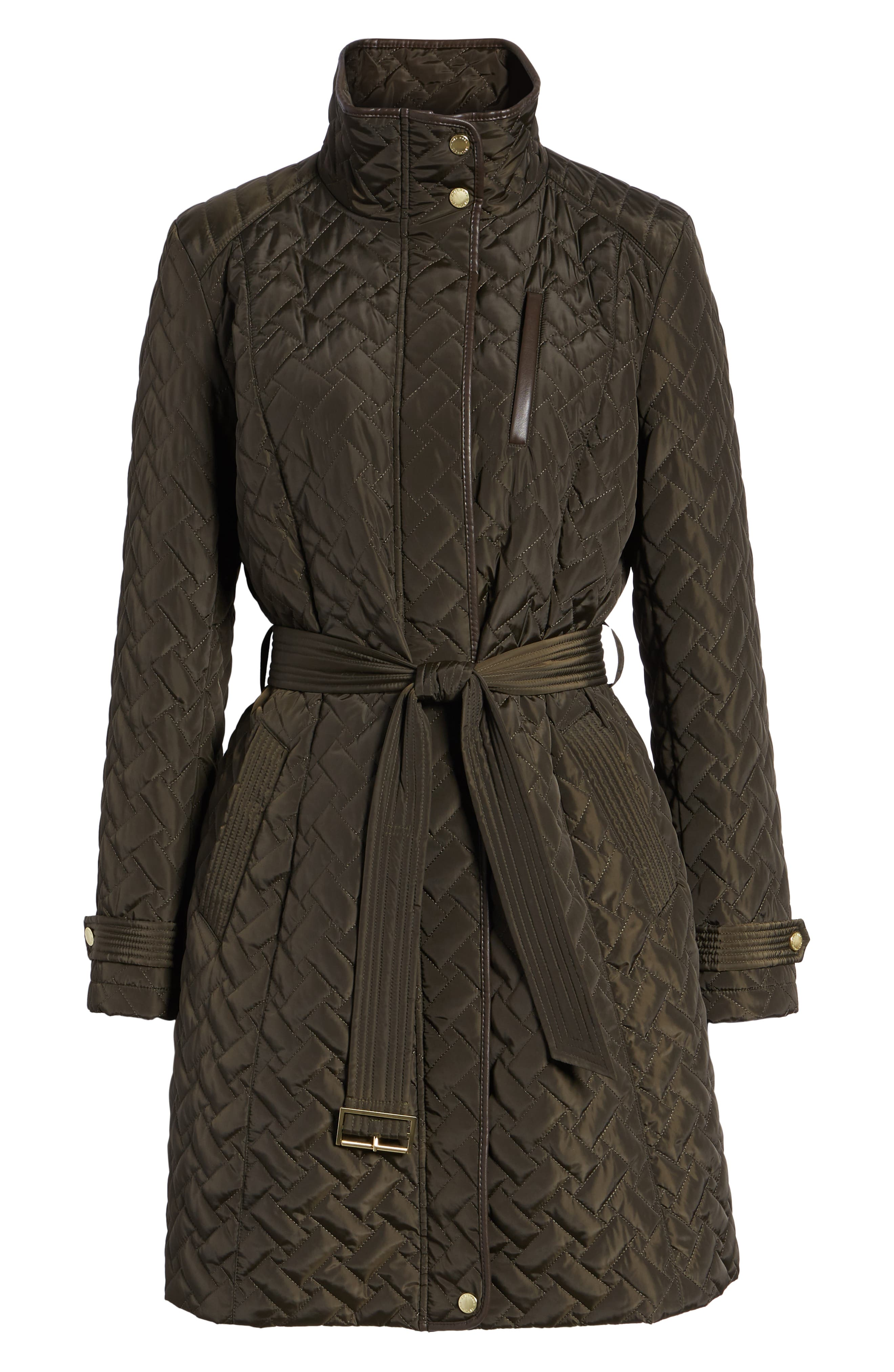 Belted Quilted Coat,                             Alternate thumbnail 27, color,
