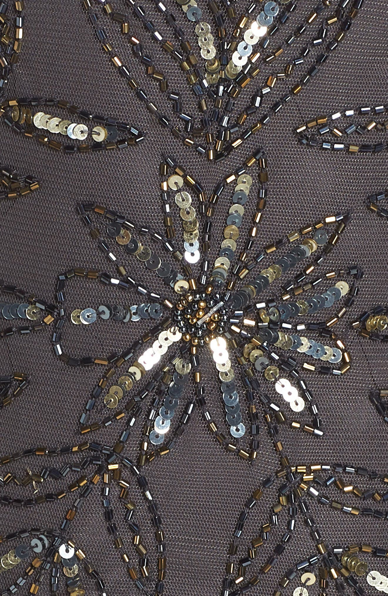 Floral Beaded Shift Dress,                             Alternate thumbnail 5, color,                             629
