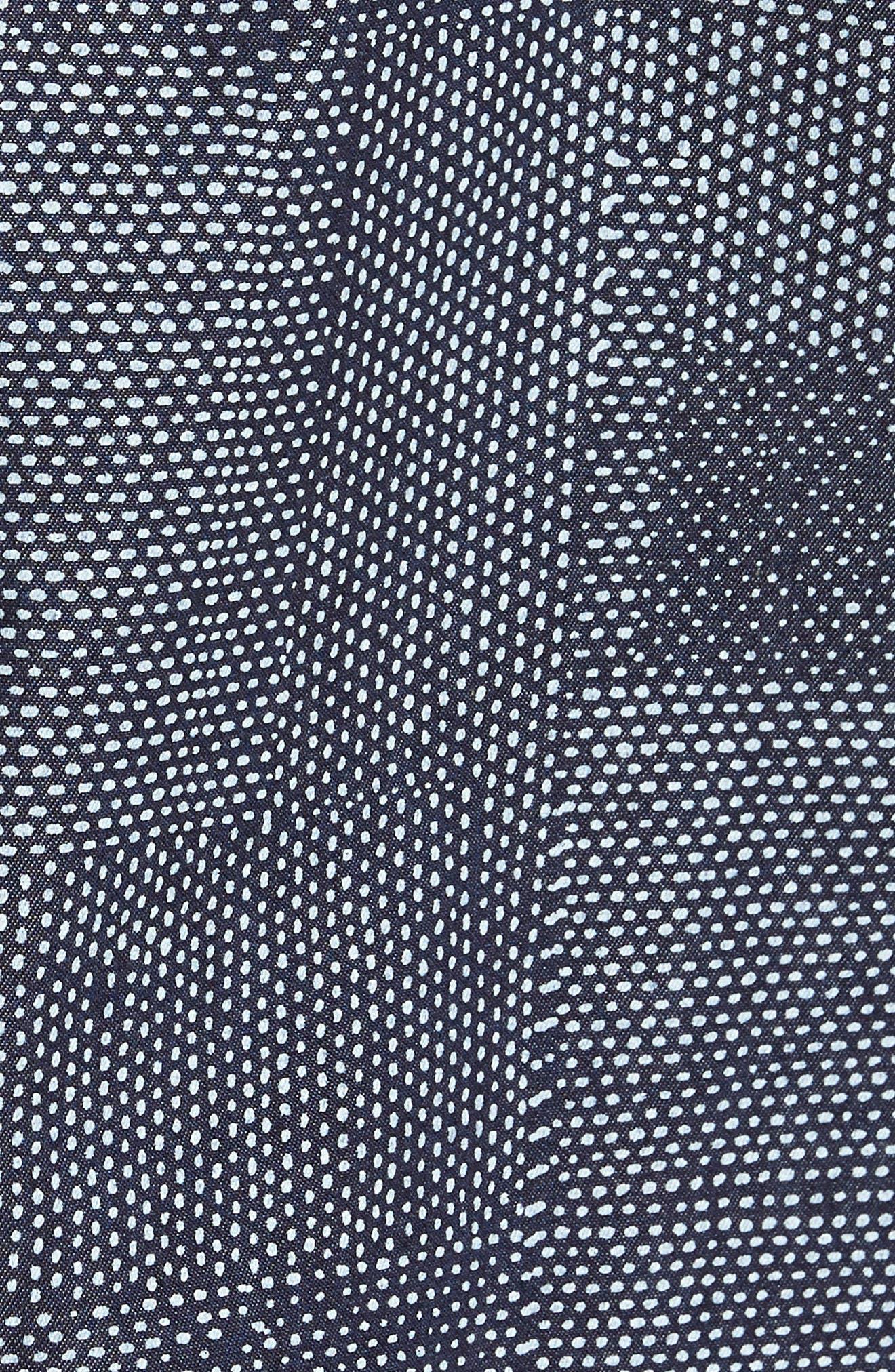 Dotpatch Woven Shirt,                             Alternate thumbnail 5, color,                             INDIGO