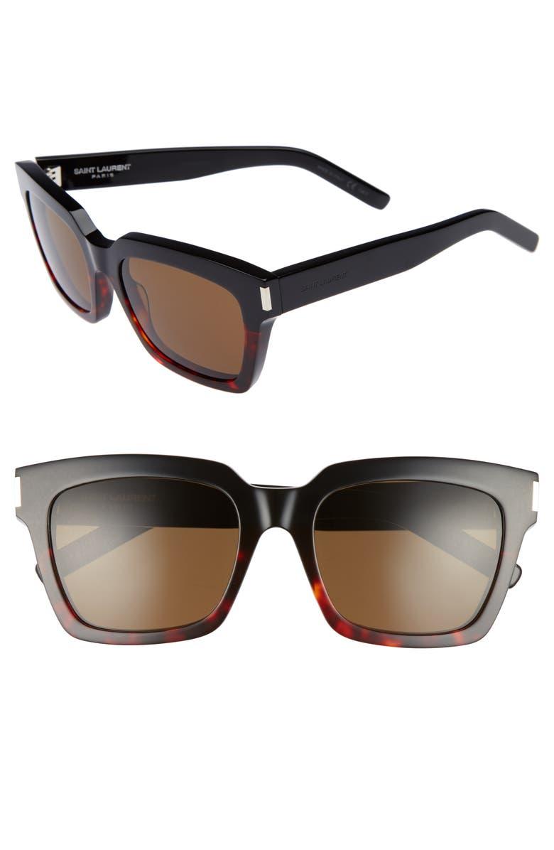 3655c403bc5c53 Saint Laurent Bold 1 54mm Square Sunglasses   Nordstrom