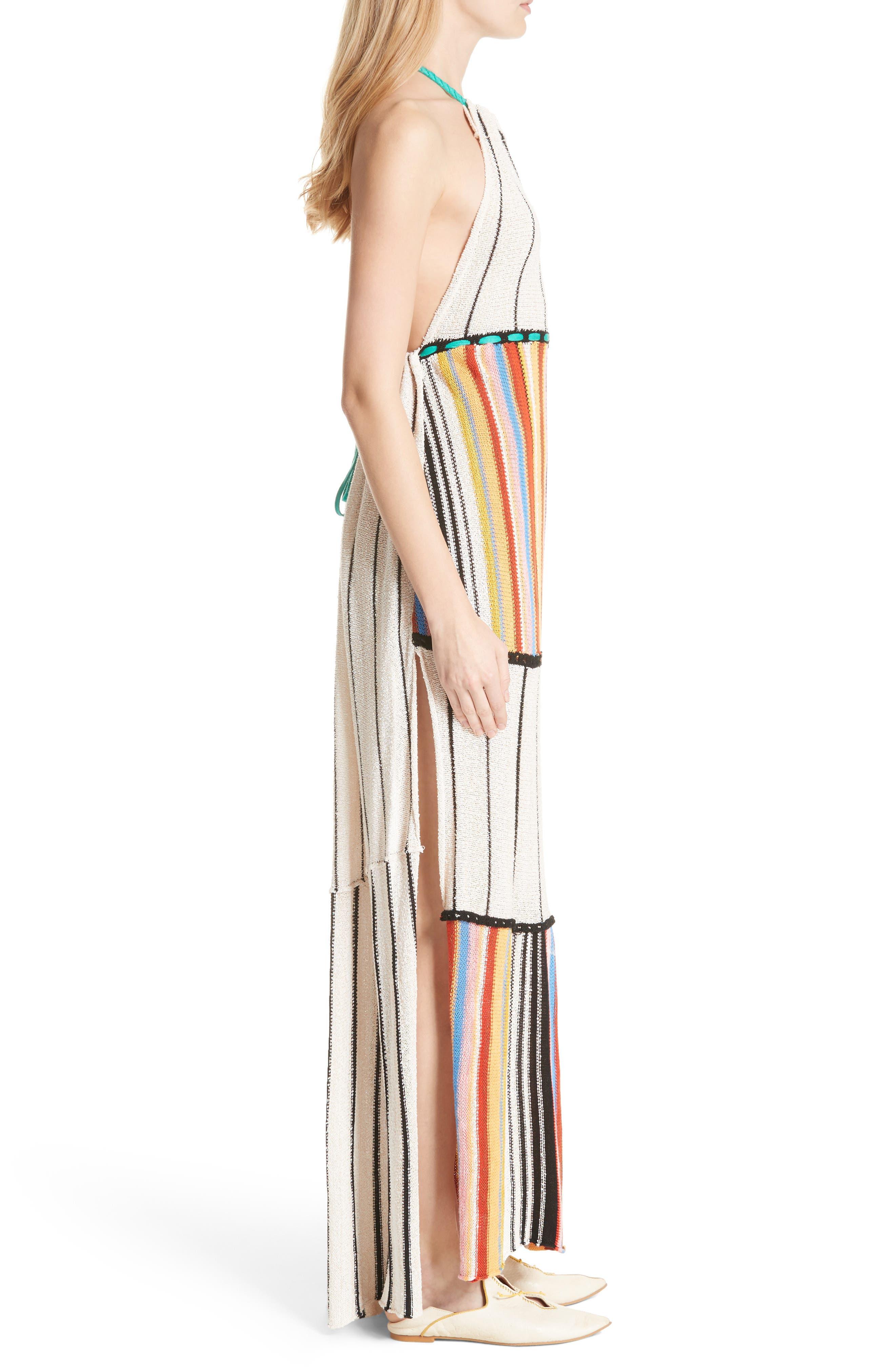 Mardi Gras Halter Maxi Dress,                             Alternate thumbnail 5, color,
