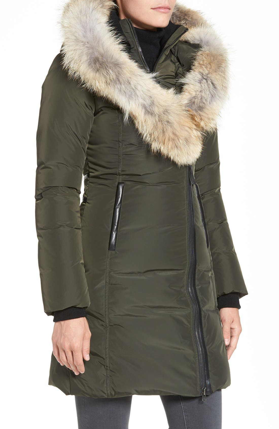 Down Puffer with Coyote Fur Trim,                             Alternate thumbnail 10, color,