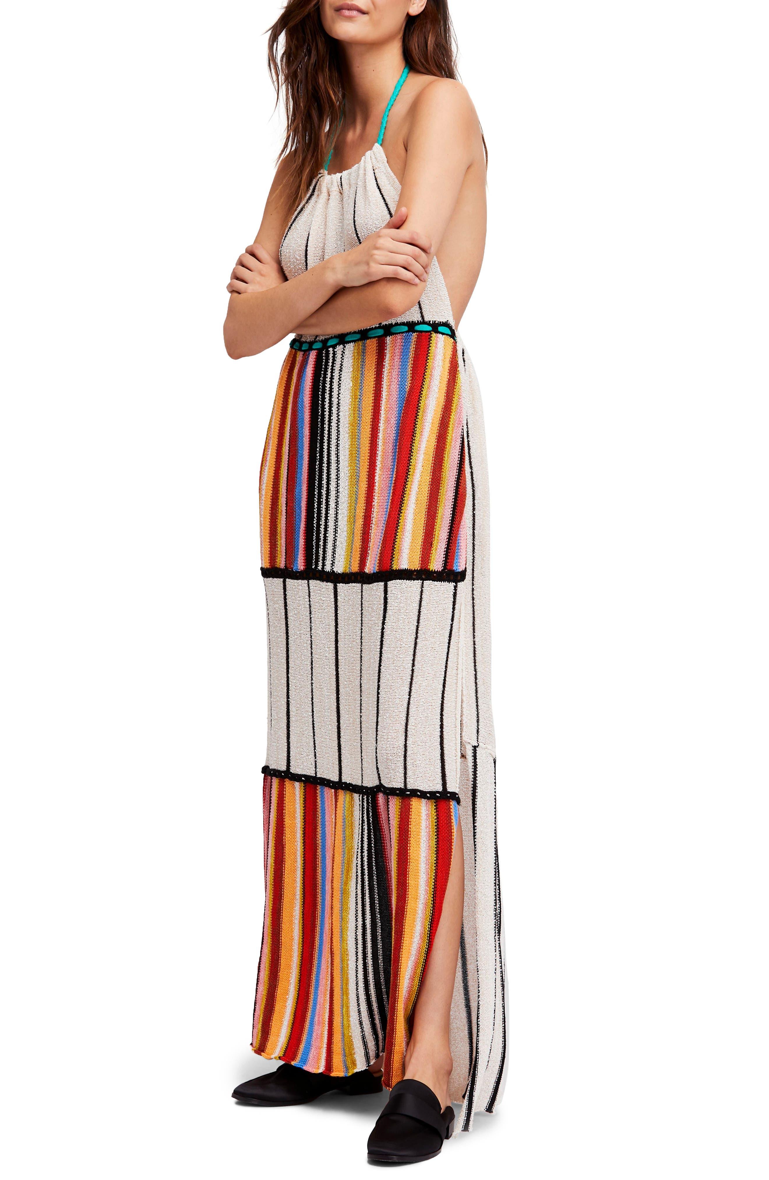 Mardi Gras Halter Maxi Dress,                             Alternate thumbnail 7, color,